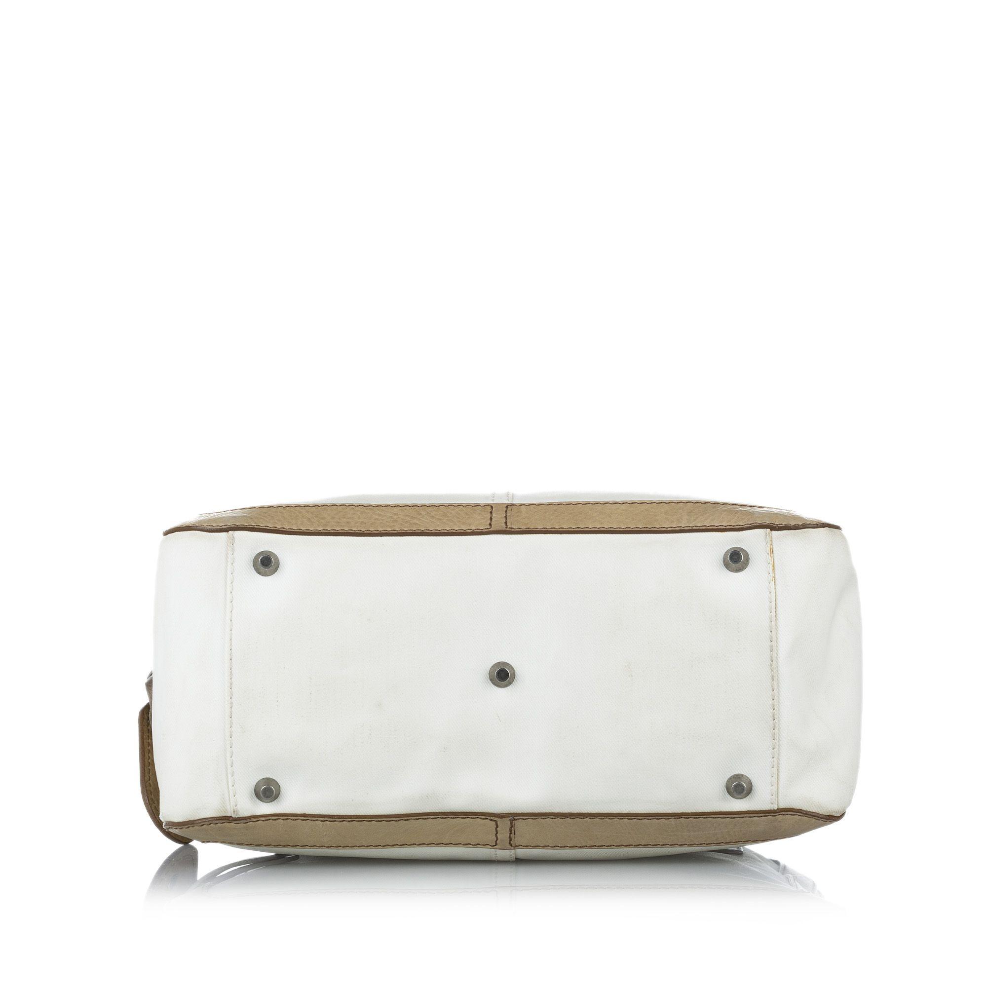 Vintage Chloe Leather Handbag White
