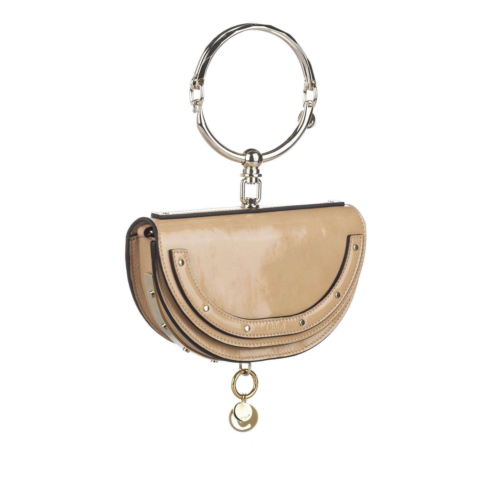 Vintage Chloe Nile Minaudiere Crossbody Bag Brown