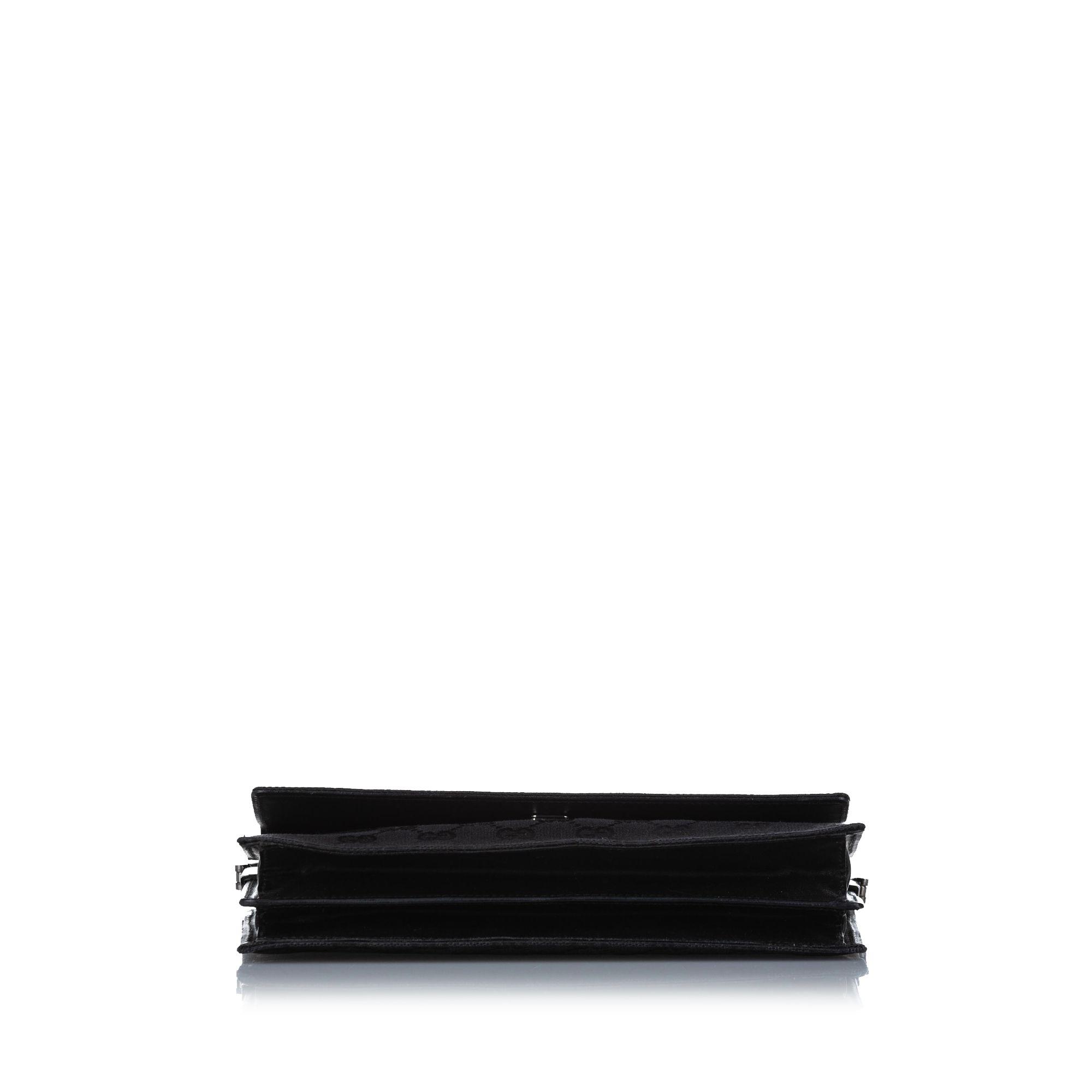 Vintage Gucci GG Canvas Baguette Black