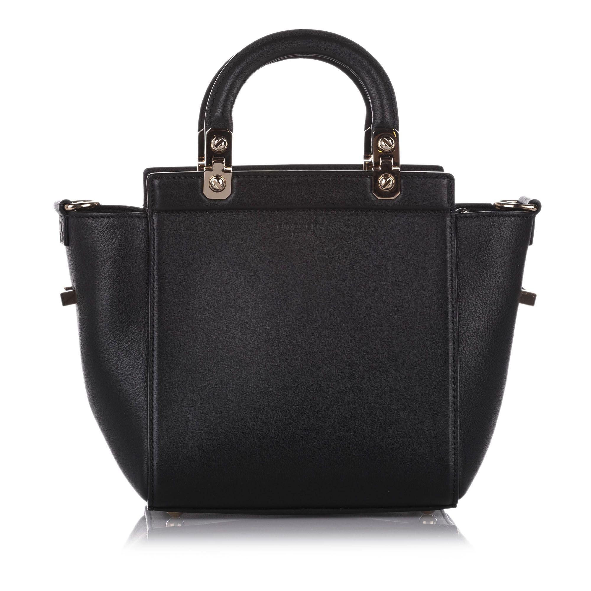 Vintage Givenchy HDG Leather Satchel Black