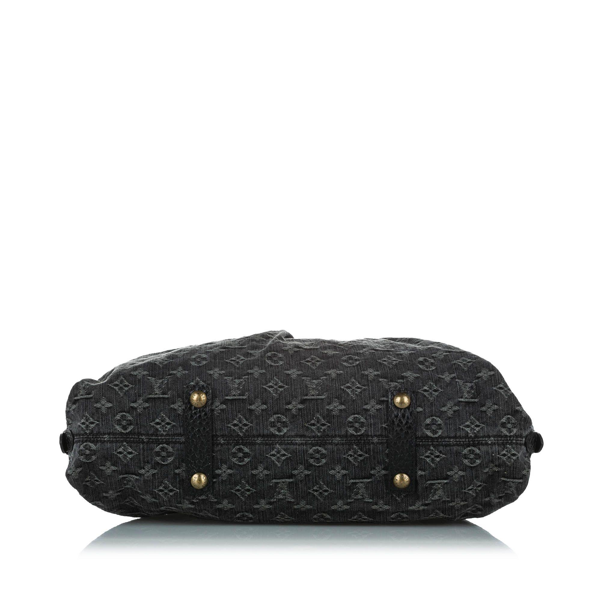 Vintage Louis Vuitton Monogram Denim Neo Cabby GM Black