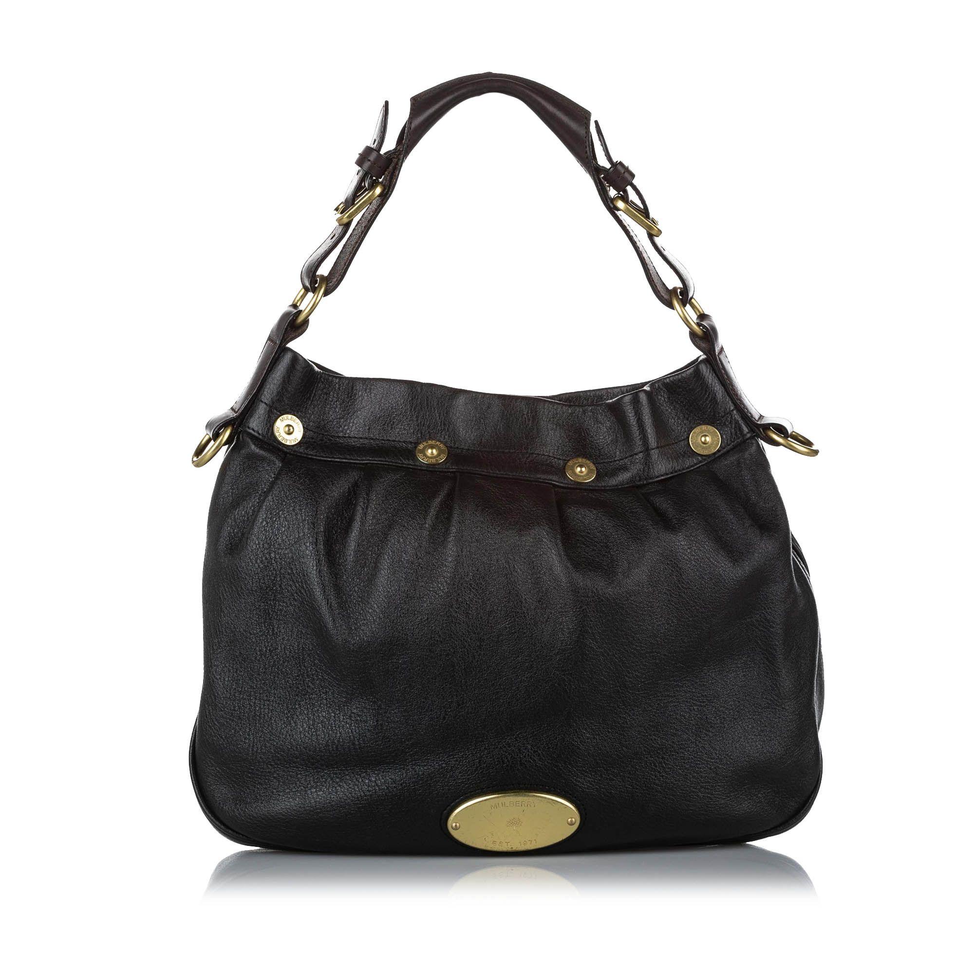 Vintage Mulberry Mitzy Leather Shoulder Bag Black