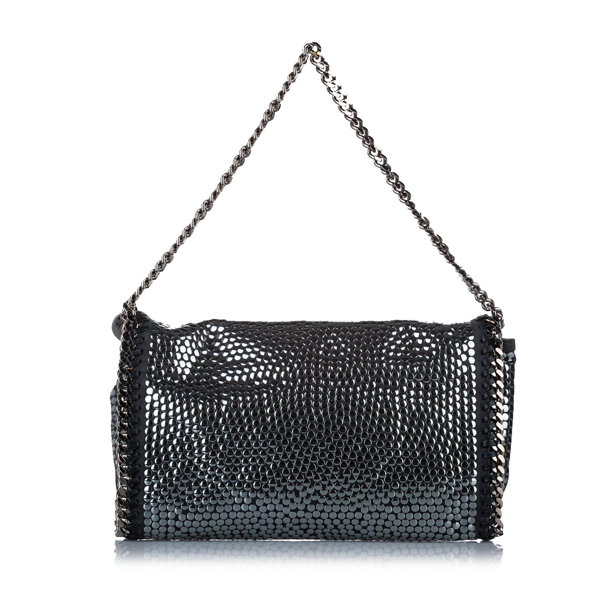 Vintage Stella McCartney Studded Falabella Shoulder Bag Black