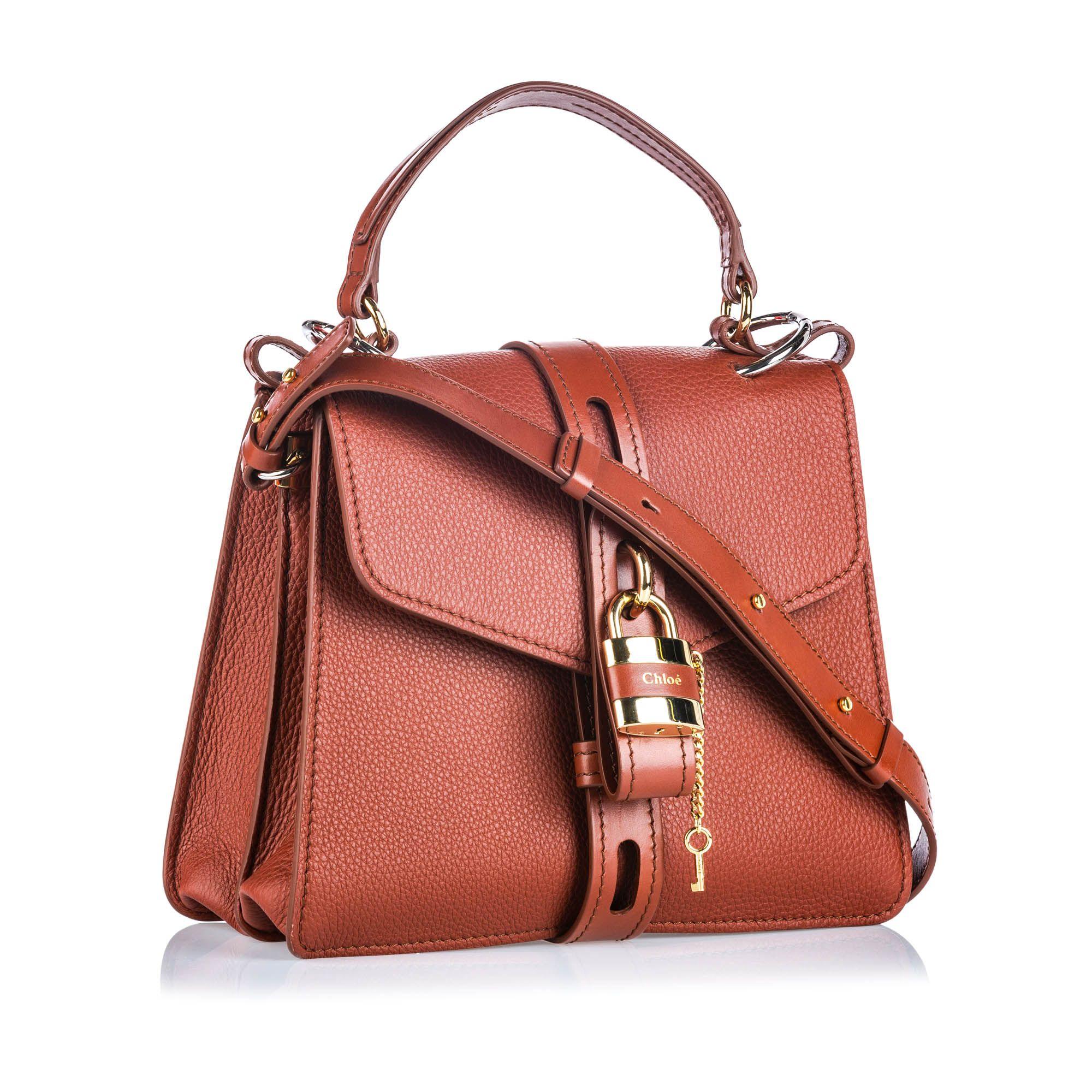 Vintage Chloe Medium Leather Aby Brown