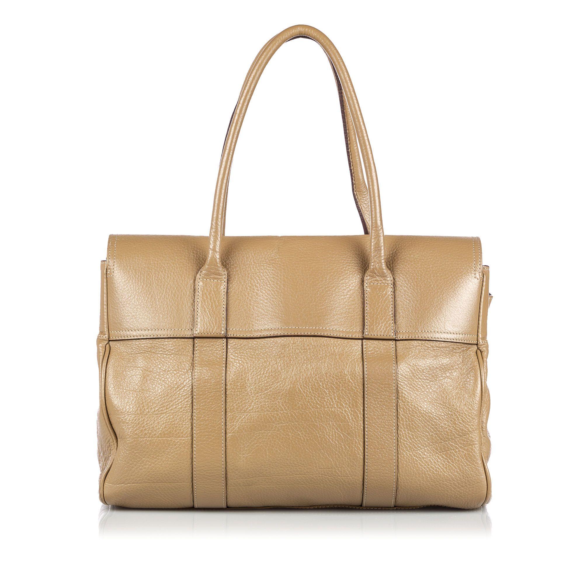 Vintage Mulberry Leather Bayswater Handbag Brown