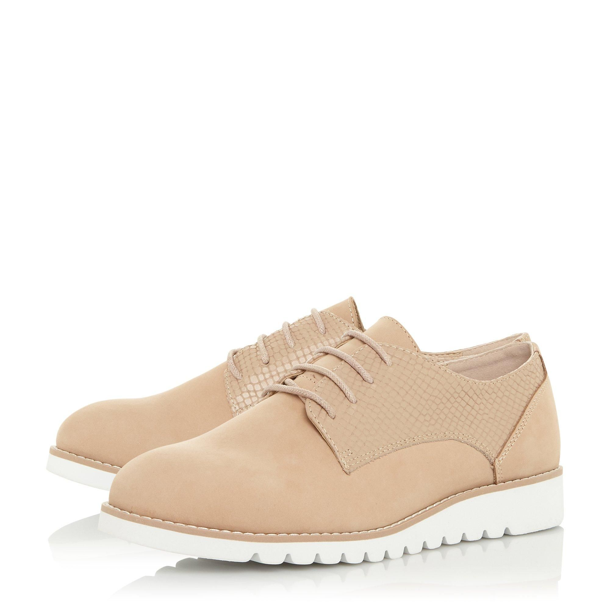 Dune Ladies FLINCH Mixed Upper Lace Up Shoes