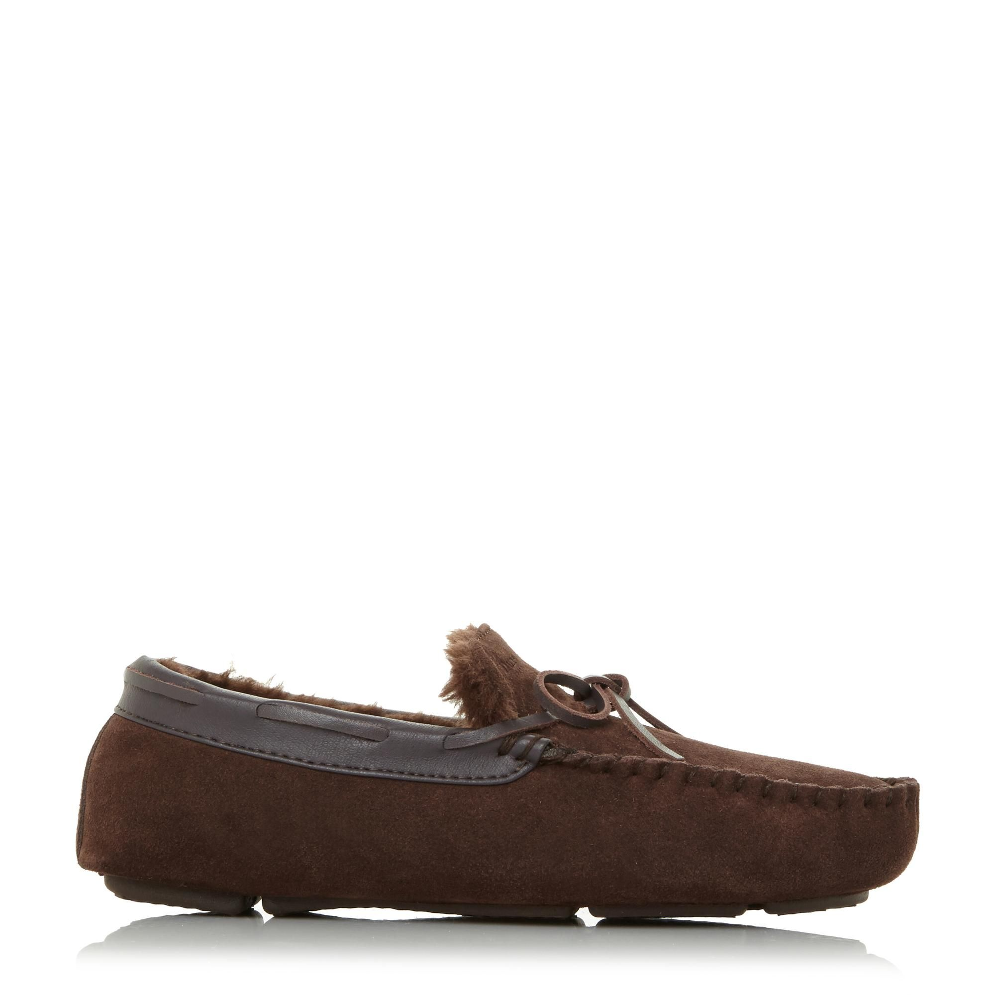Dune Mens FREEZE Warm Lined Driver Moccasin Slipper