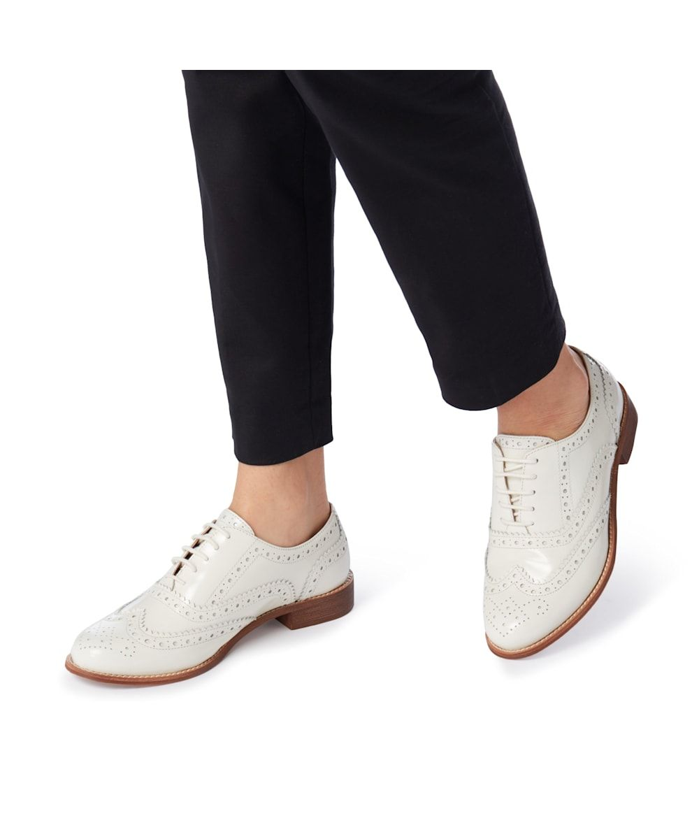 Dune Ladies FRENCHIE Leather Brogue Shoes