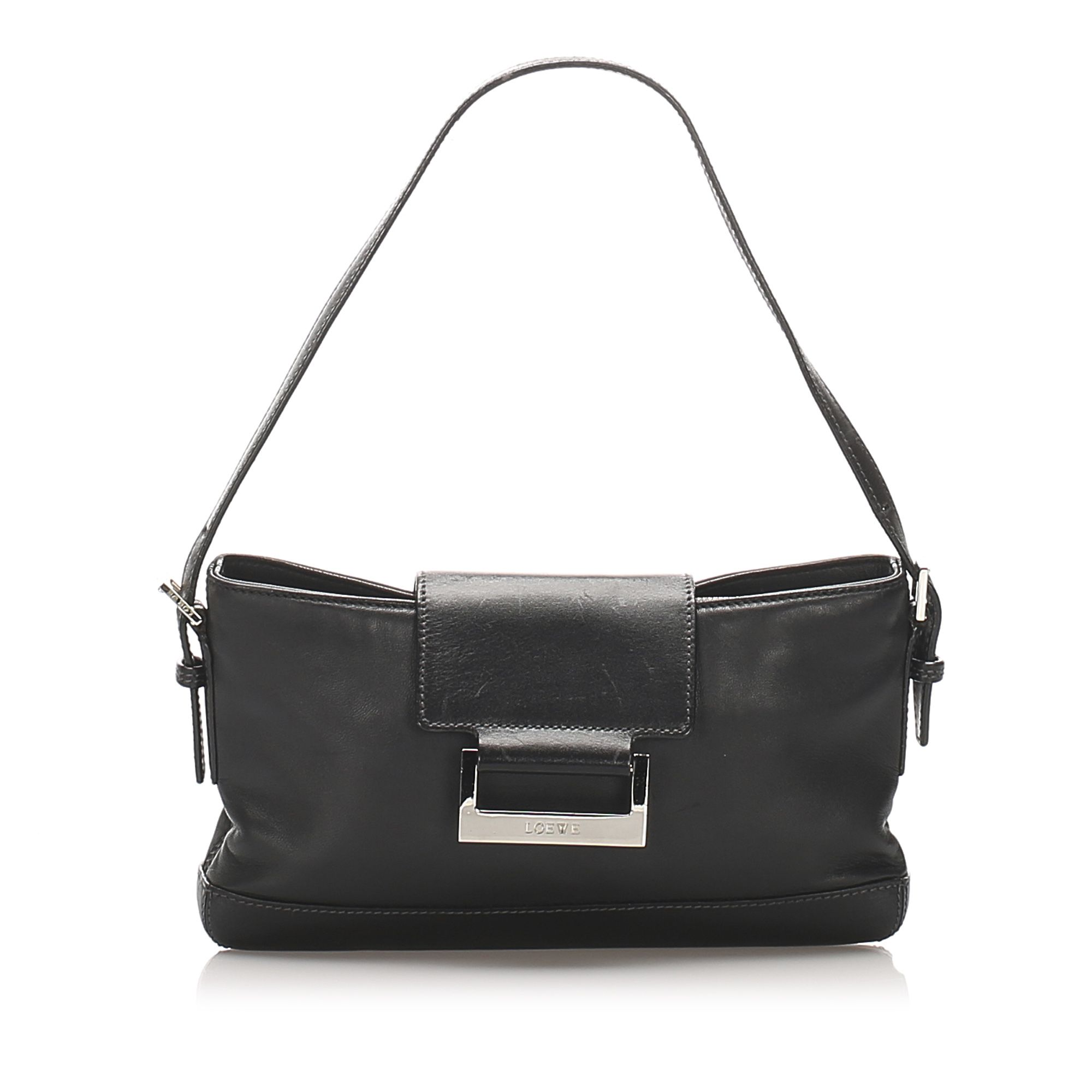 Vintage Loewe Leather Baguette Black