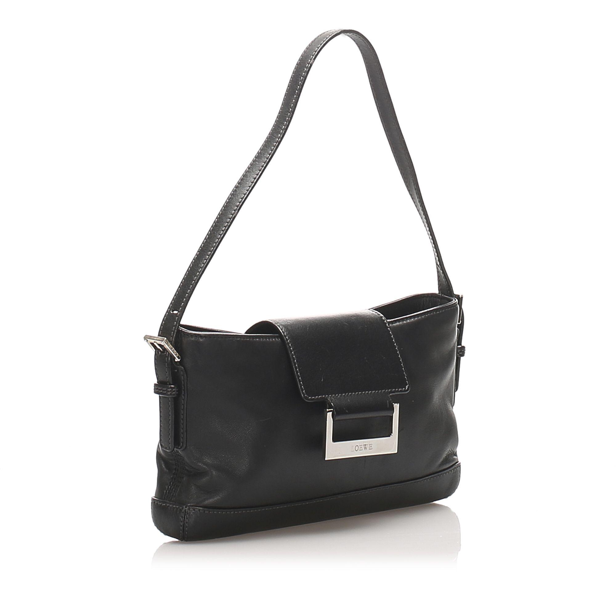 Vintage Loewe Leather Baguette Black