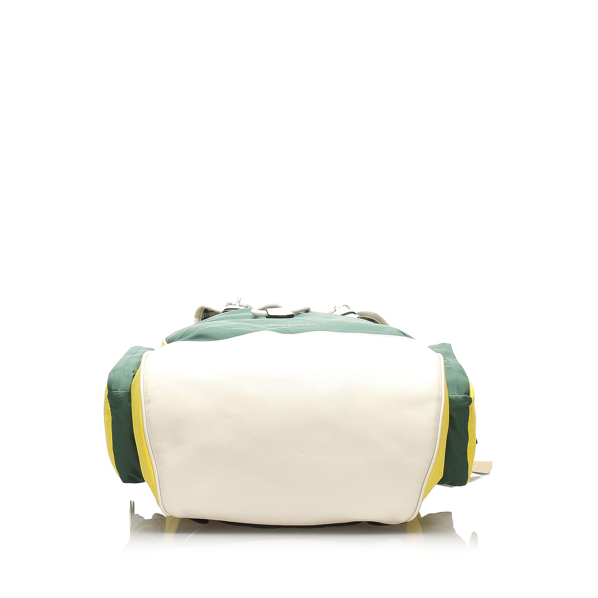 Vintage Burberry Nylon Backpack Green