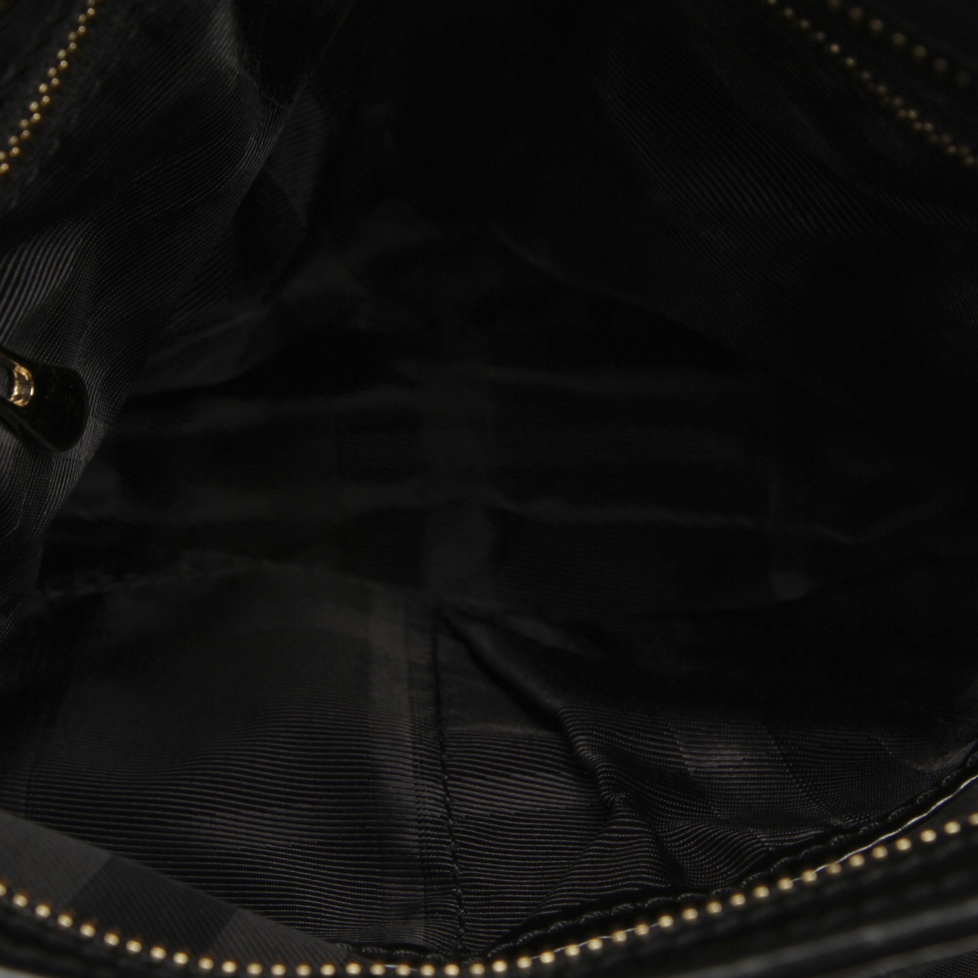 Vintage Burberry Quilted Nylon Crossbody Bag Black