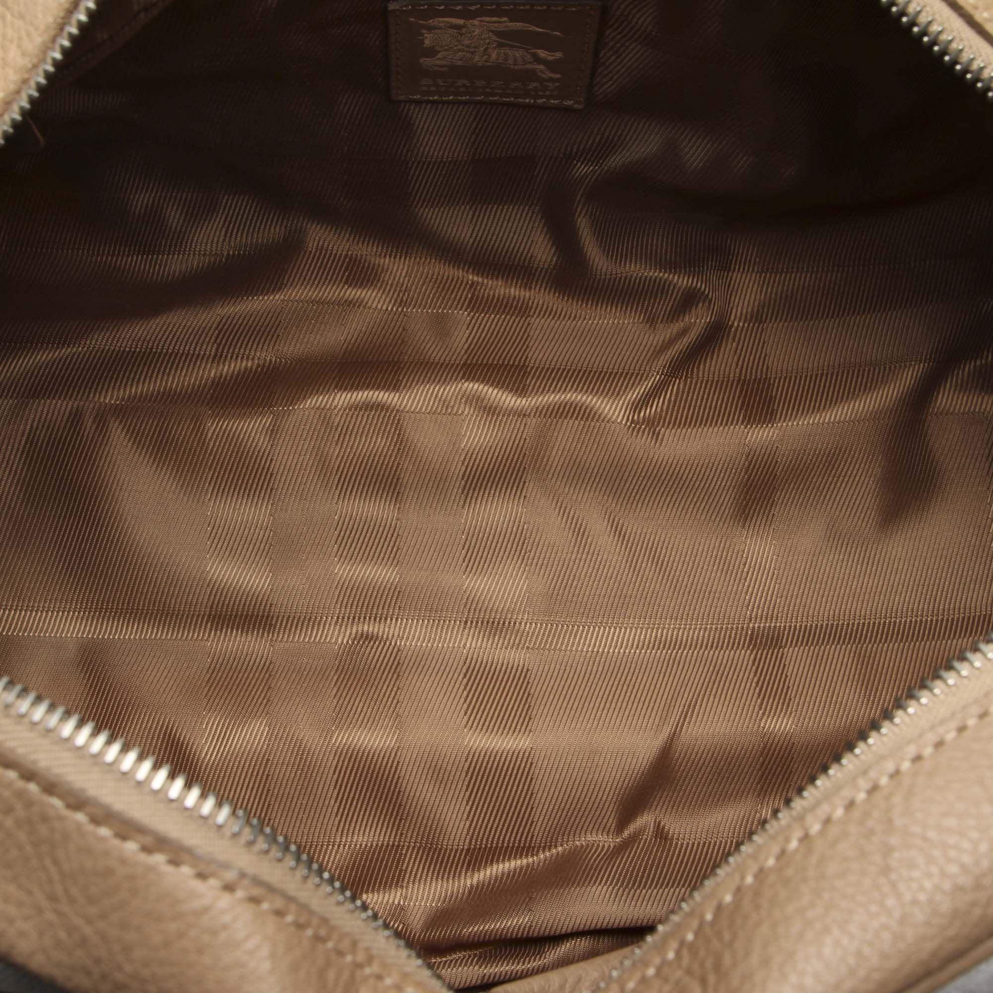 Vintage Burberry Quilted Manor Nylon Shoulder Bag Brown