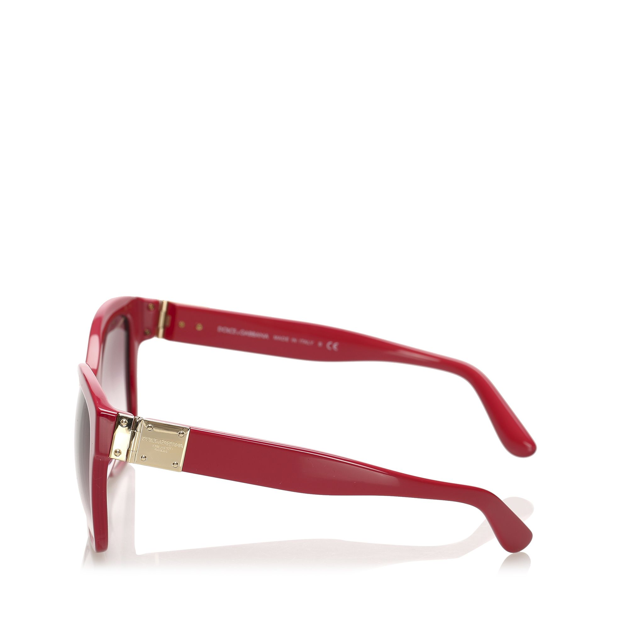 Vintage Dolce&Gabbana Square Tinted Sunglasses Red