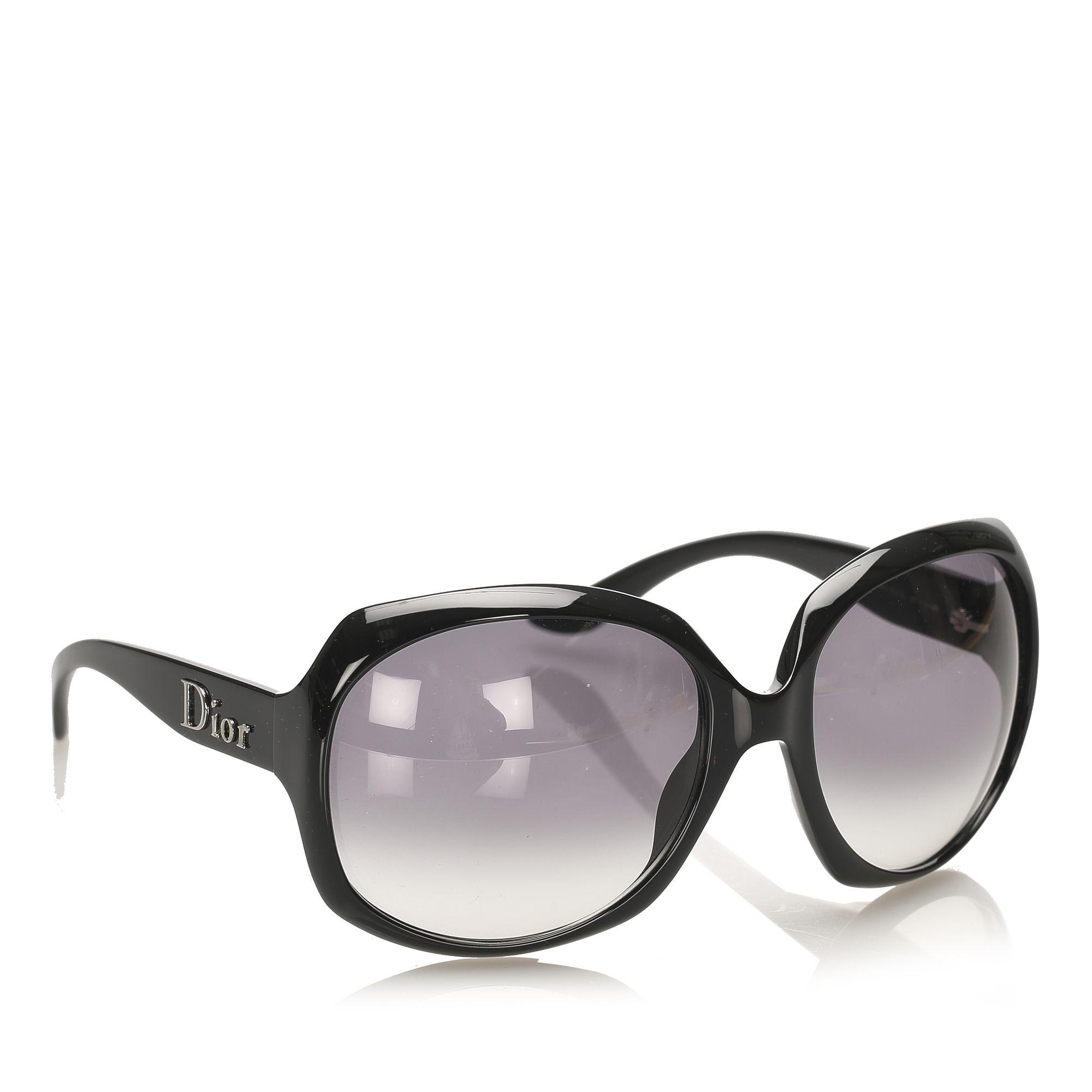 Vintage Dior Round Tinted Sunglasses Black