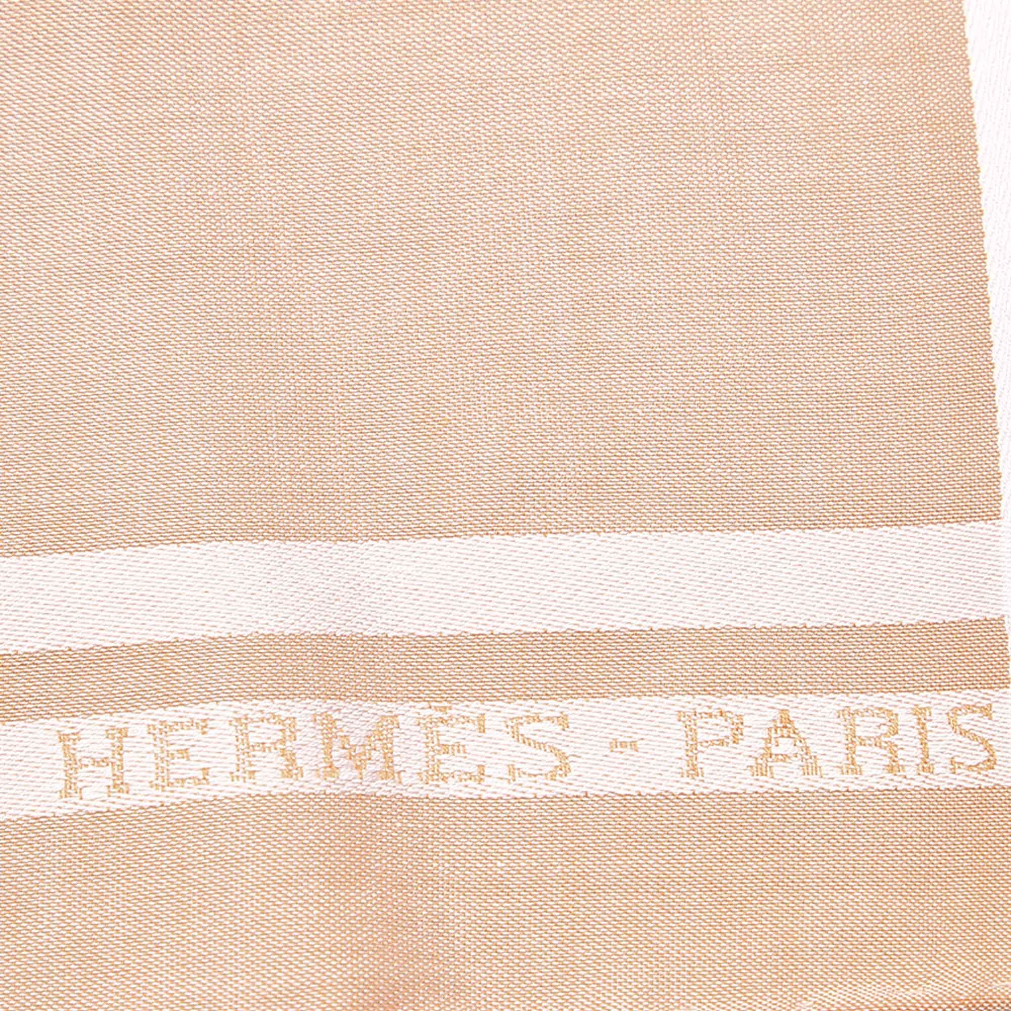 Vintage Hermes Cotton Handkerchief Pink