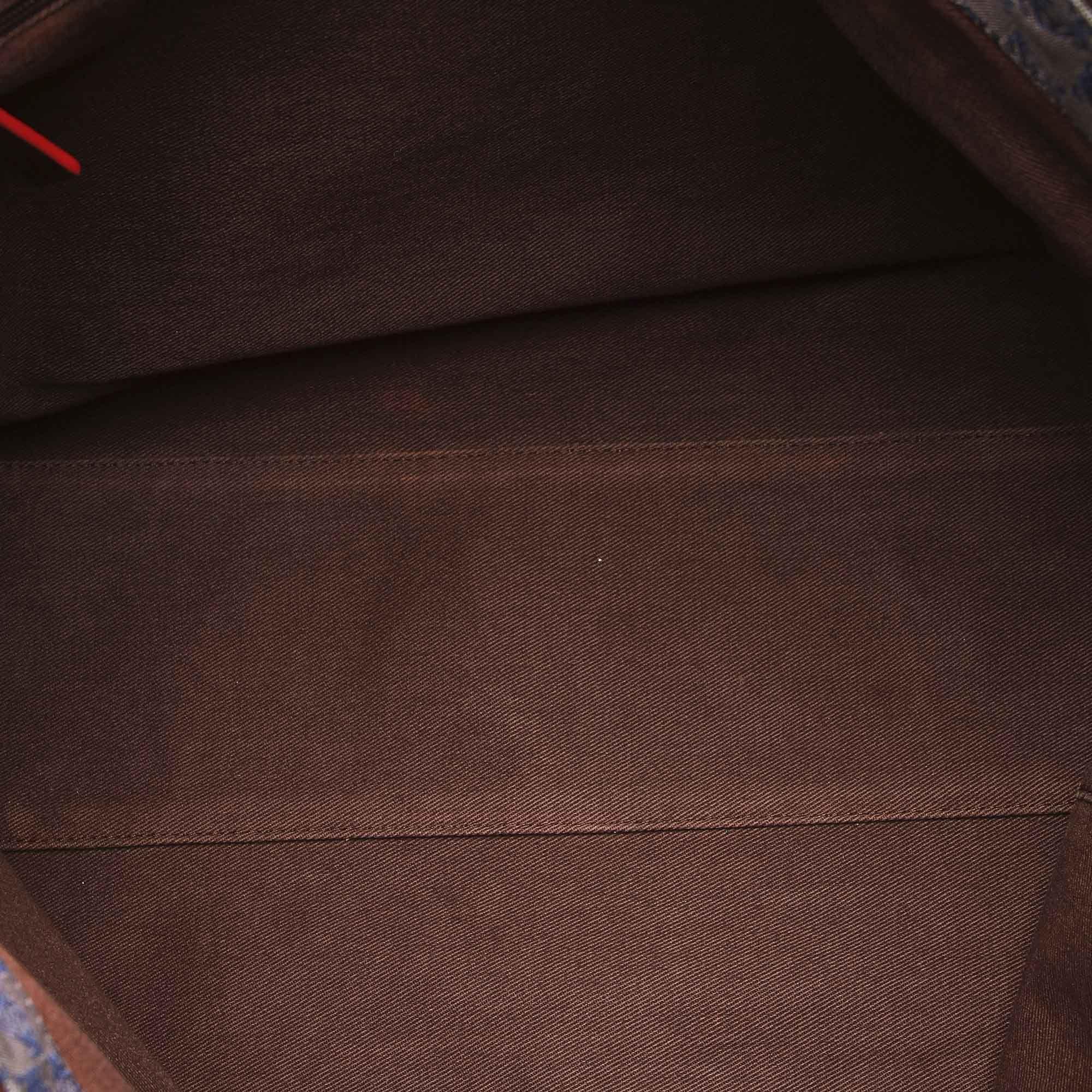 Vintage Loewe Anagram Canvas Shoulder Bag Black