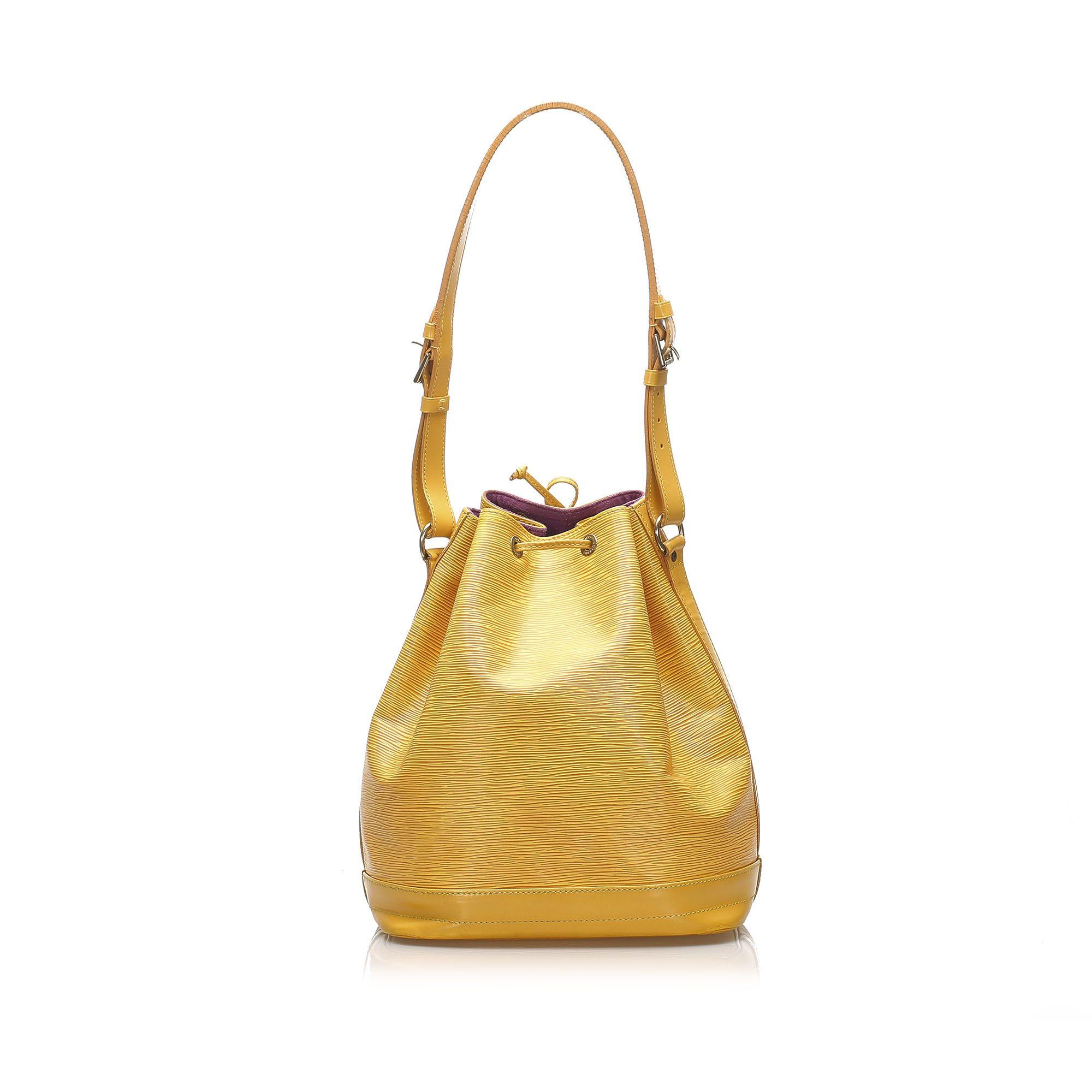 Vintage Louis Vuitton Epi Noe Yellow