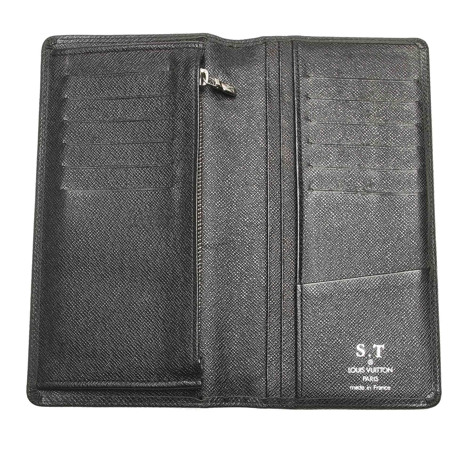 Vintage Louis Vuitton Taiga Long Wallet Black