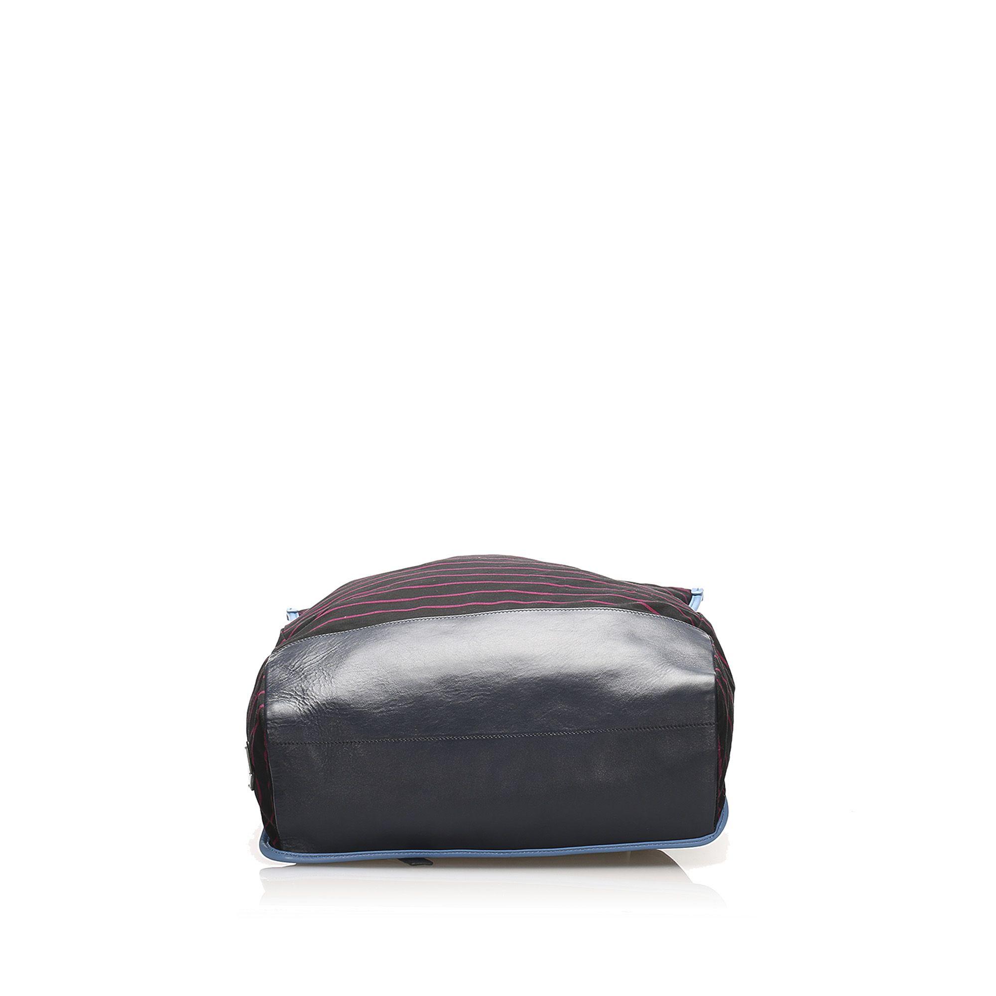 Vintage Prada Canvas Backpack Black