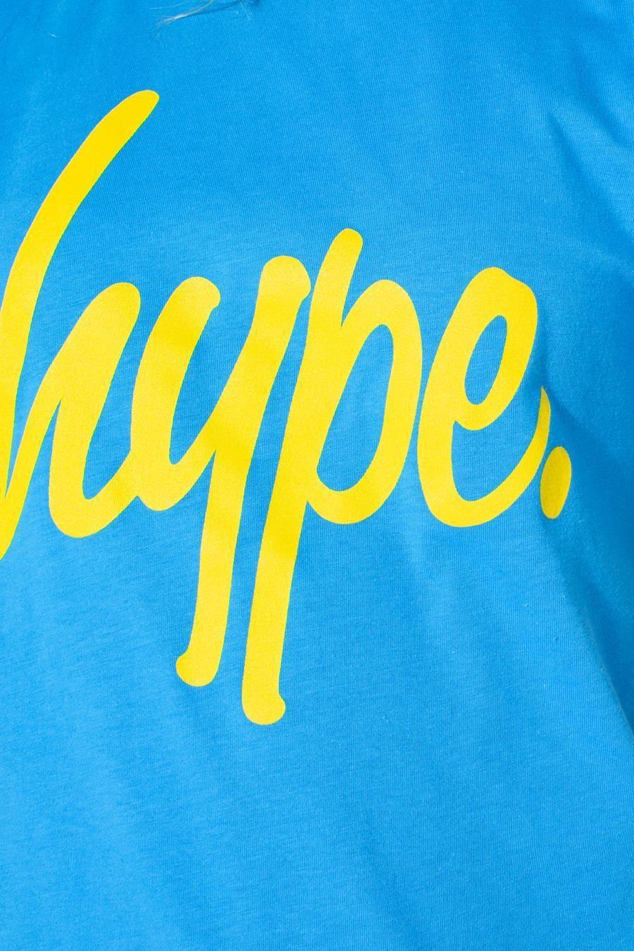 Hype Blue Large Script Kids T-Shirt 5-6Y