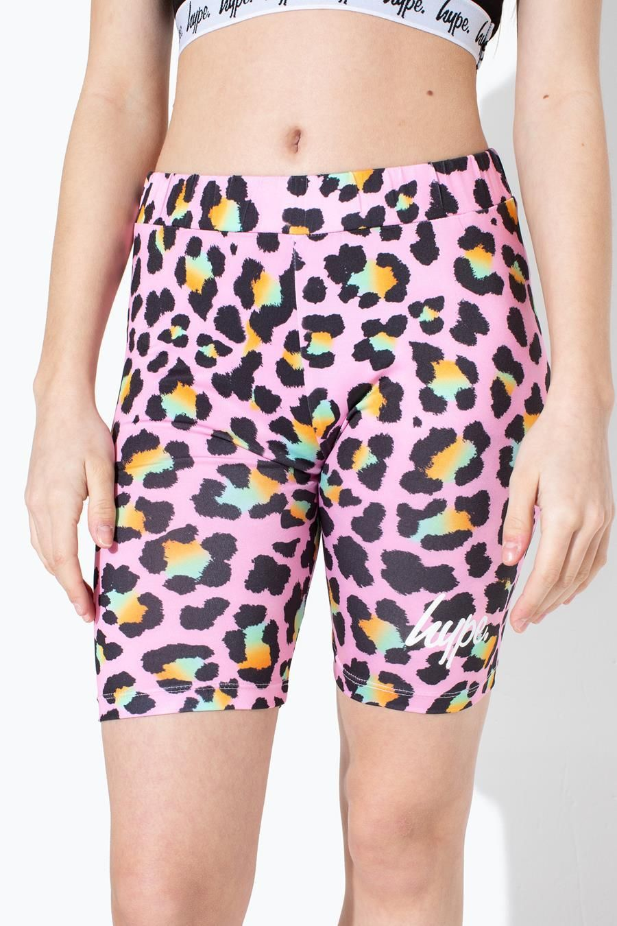 Hype Disco Leopard Kids Cycle Shorts 13Y