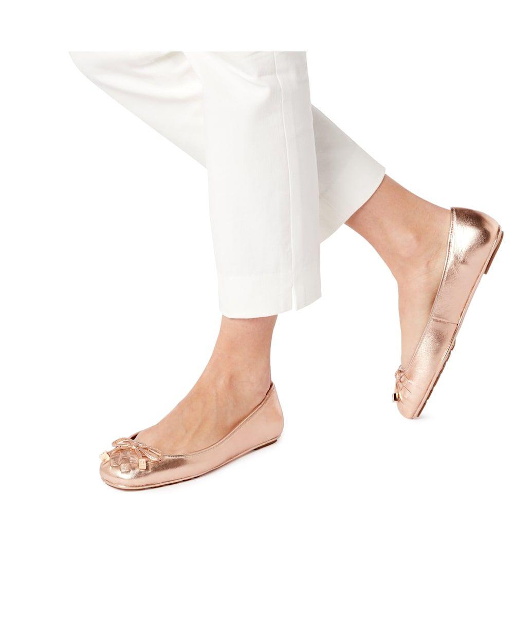 Dune Ladies HARLAND Woven Square Toe  Ballerina Shoes