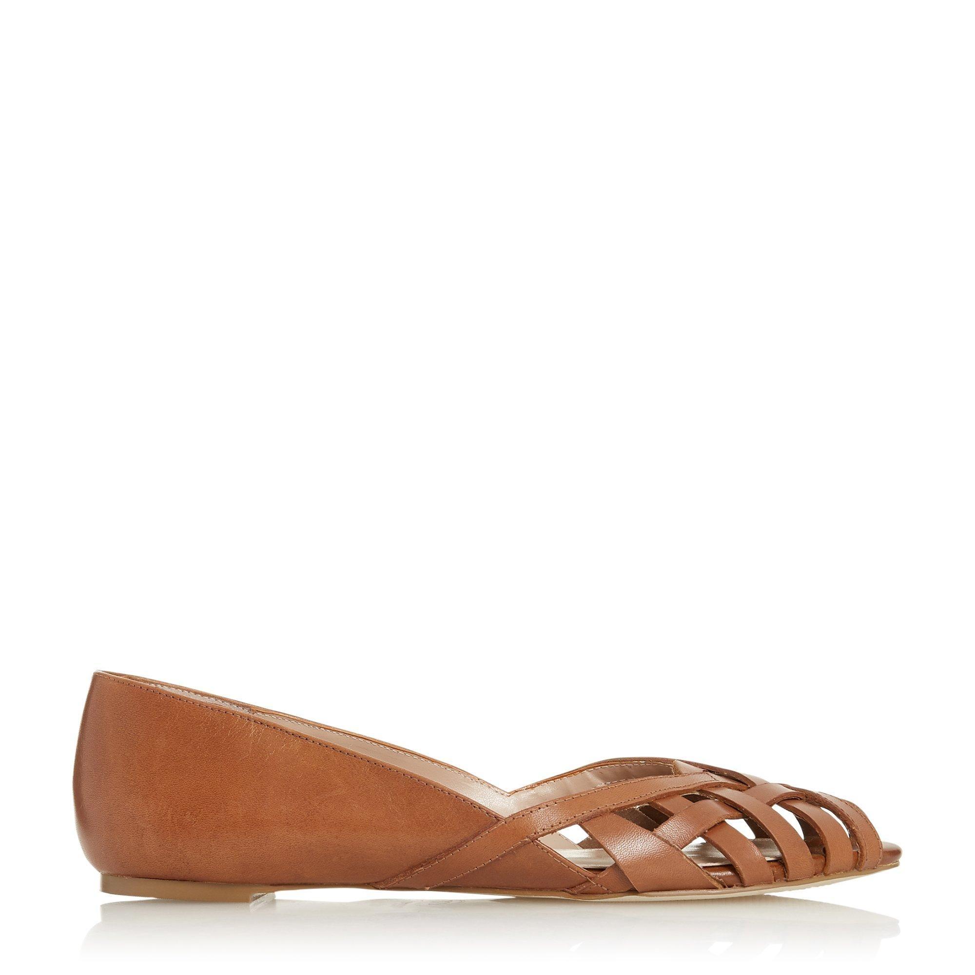 Dune Ladies HARREL Cutwork Peep Toe Ballerina Pump