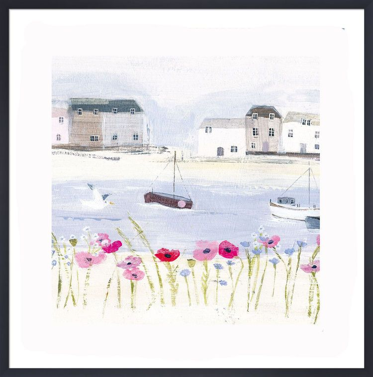 Harbour Poppies Art Print by Hannah Cole