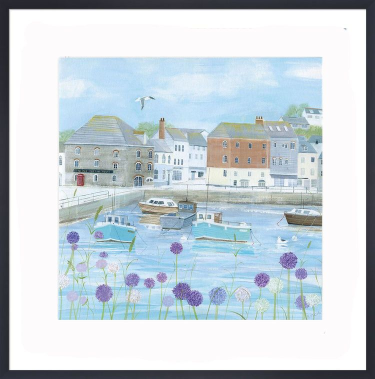 Padstow Flowers Art Print by Hannah Cole