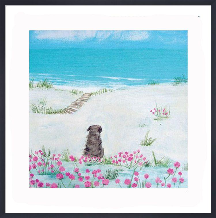 Sea Pinks Art Print by Hannah Cole