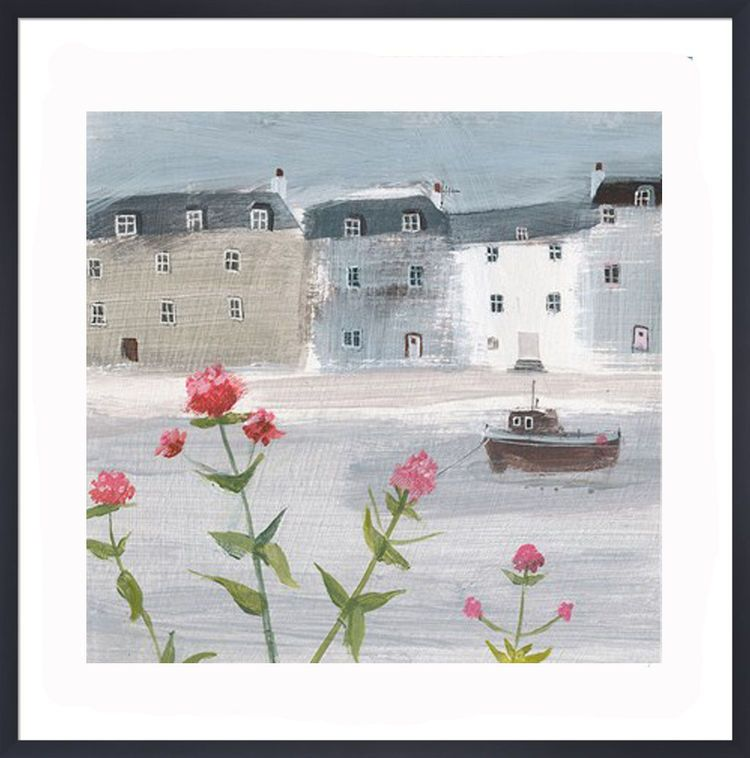 Flowers on a Grey Day Art Print by Hannah Cole