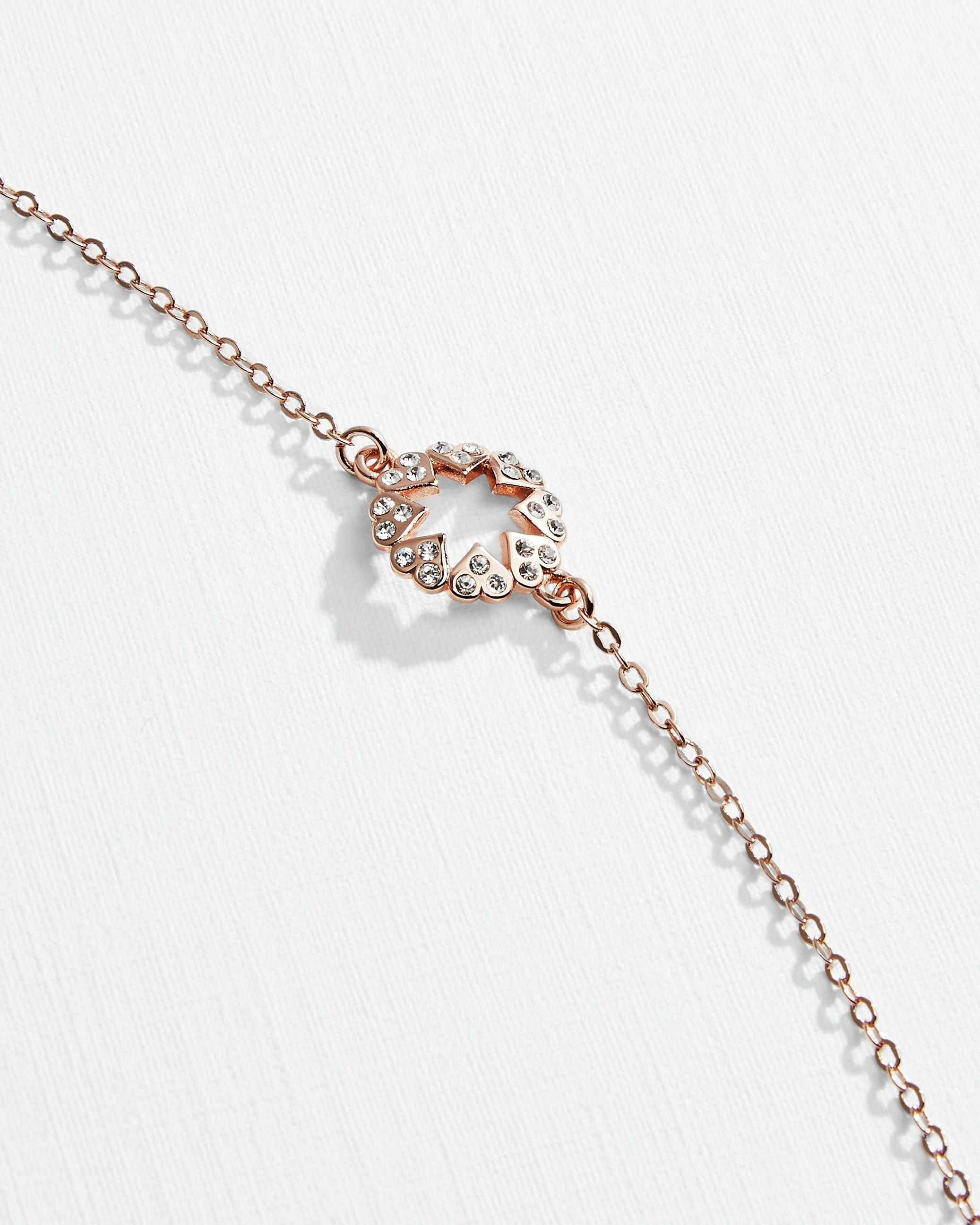 Ted Baker Hershie Heart Star Bracelet in Rose Gold