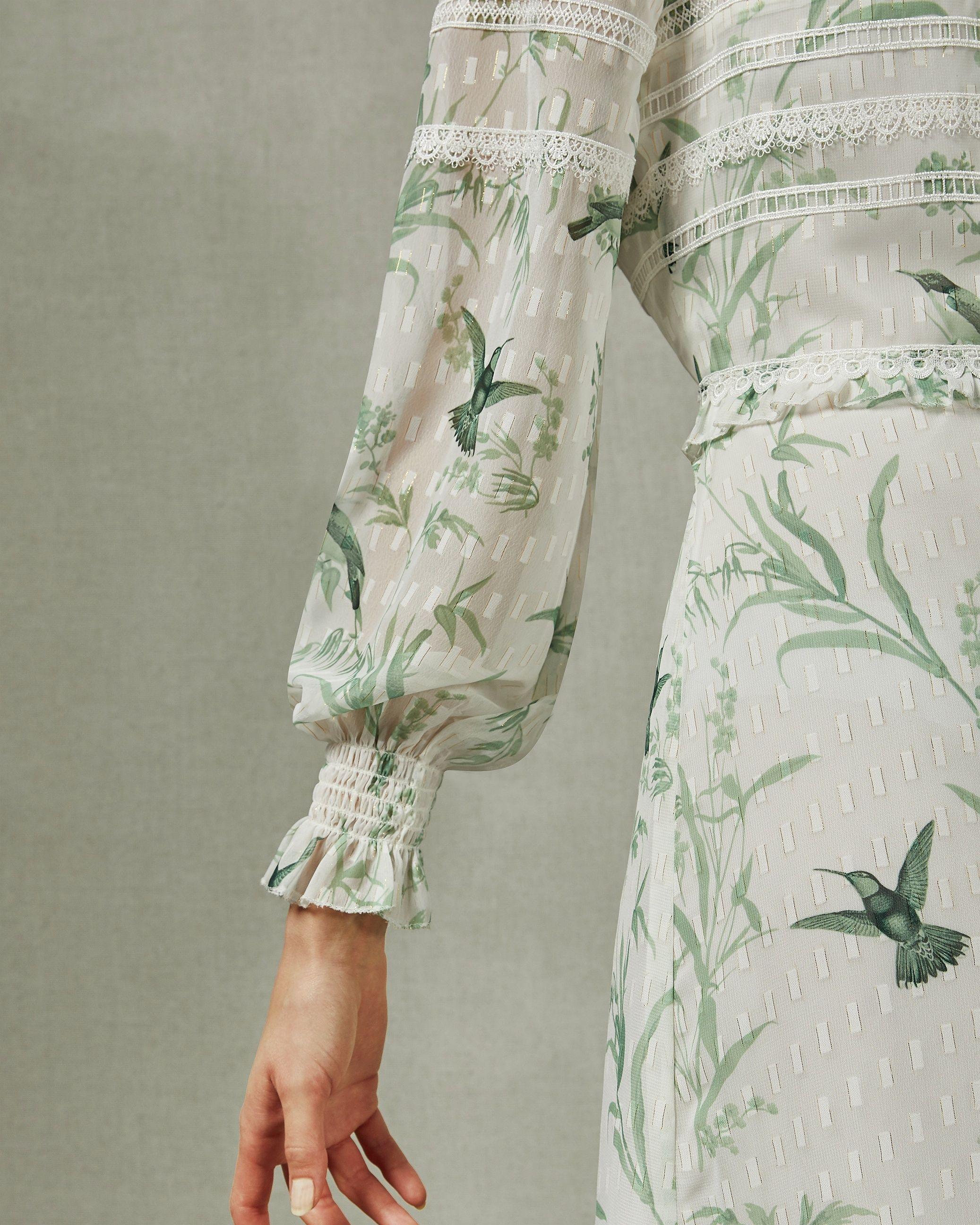 Ted Baker Hhariet Fortune Lace Trim Maxi Dress, Mint