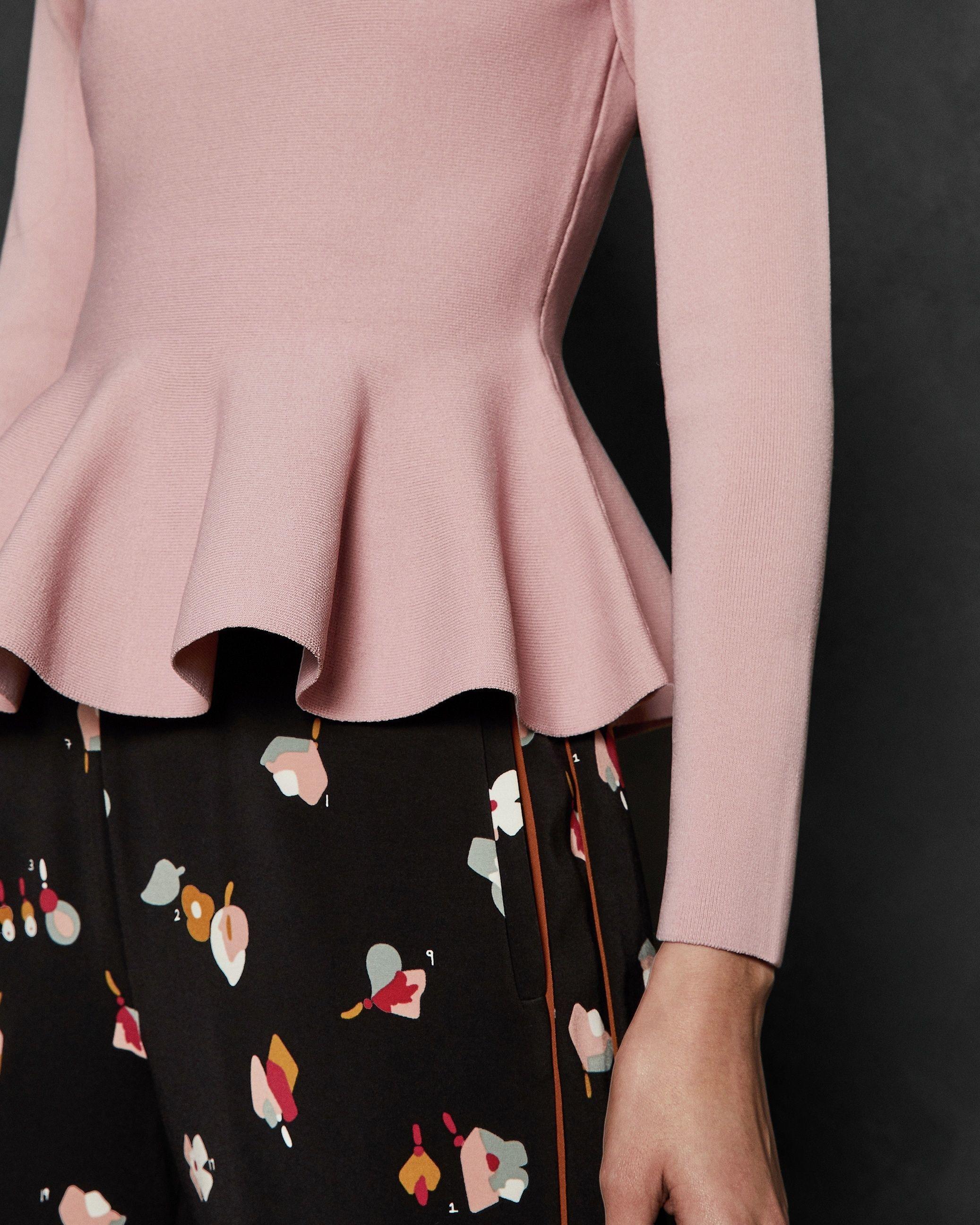 Ted Baker Hinlina Knitted Jumper, Dusky Pink