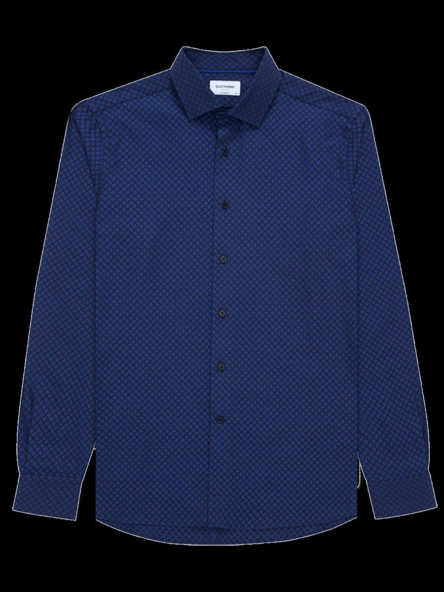 Geo Jacquard Shirt Blue