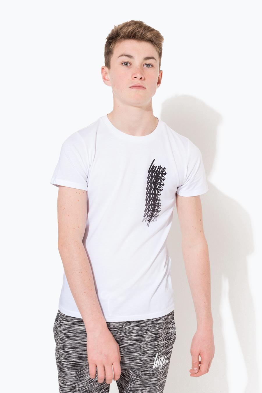 Hype White Script Fade Repeat Kids T-Shirt