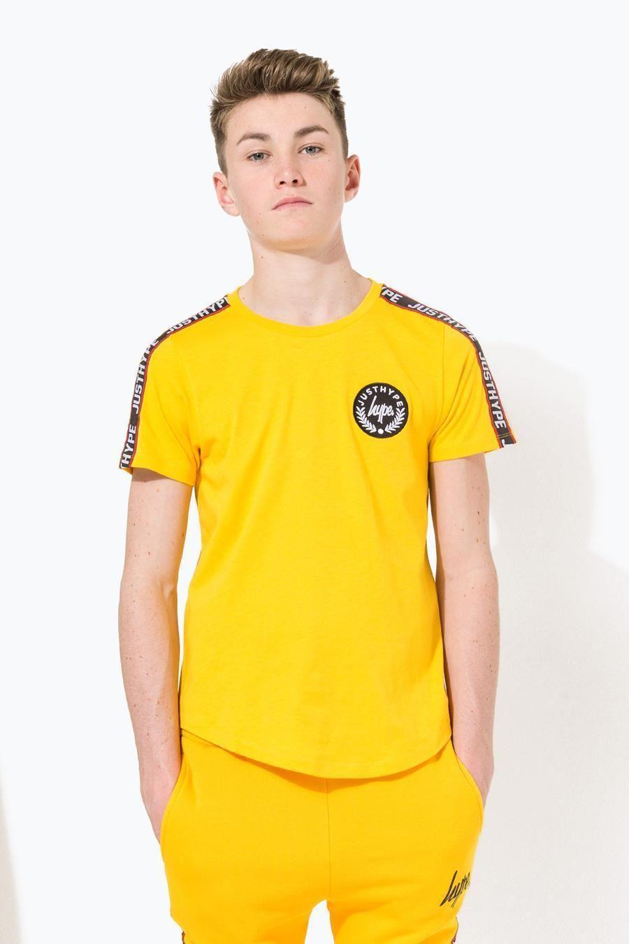 Hype Yellow Taylor Tape Kids T-Shirt