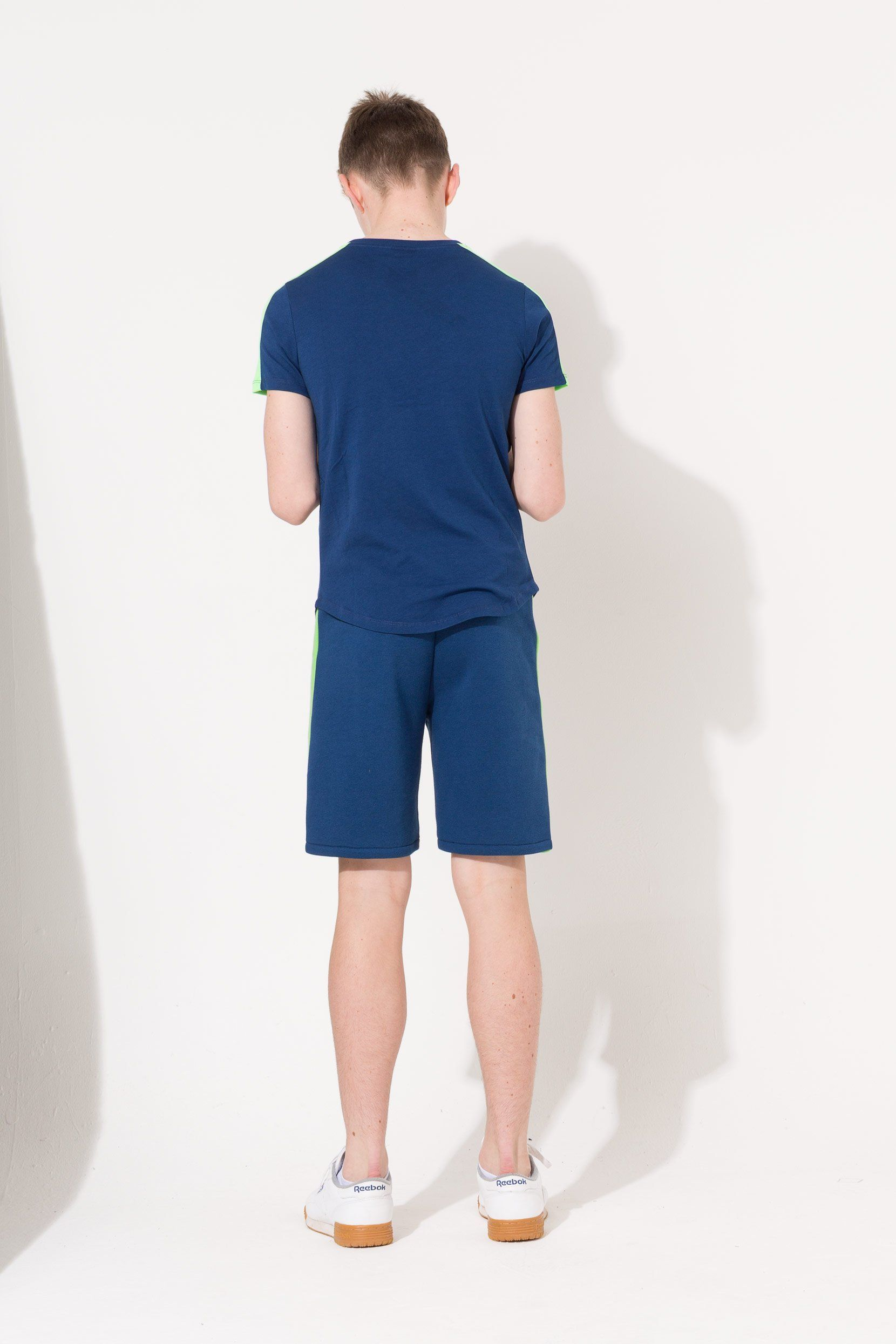 Hype Navy Side Stripe Crest Kids T-Shirt