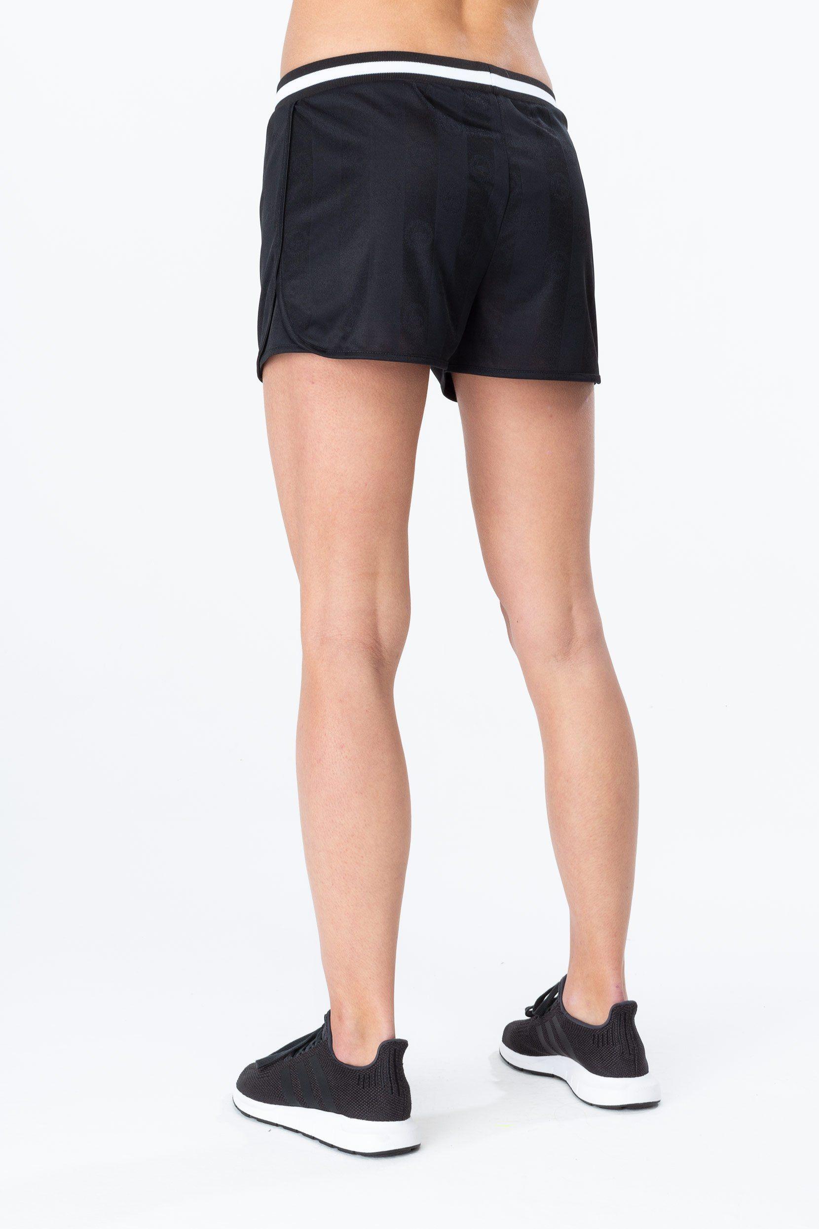 Hype Black Retro Sport Womens Running Shorts
