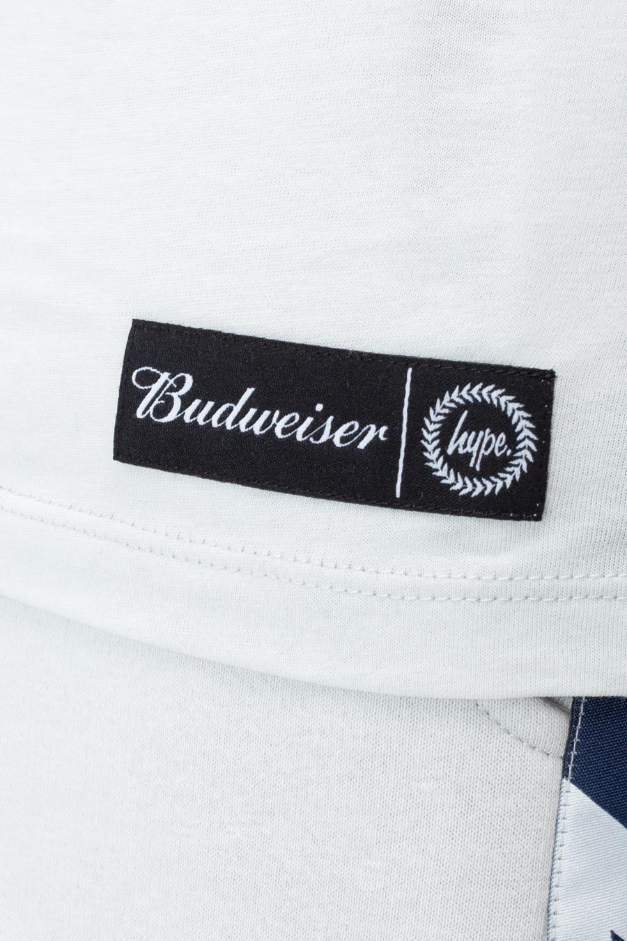 Hype Budweiser Logo Taping Mens T-Shirt
