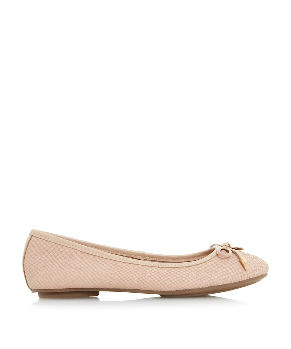 Dune Ladies HYPE Bow And Coin Trim Unlined Ballerina Shoes