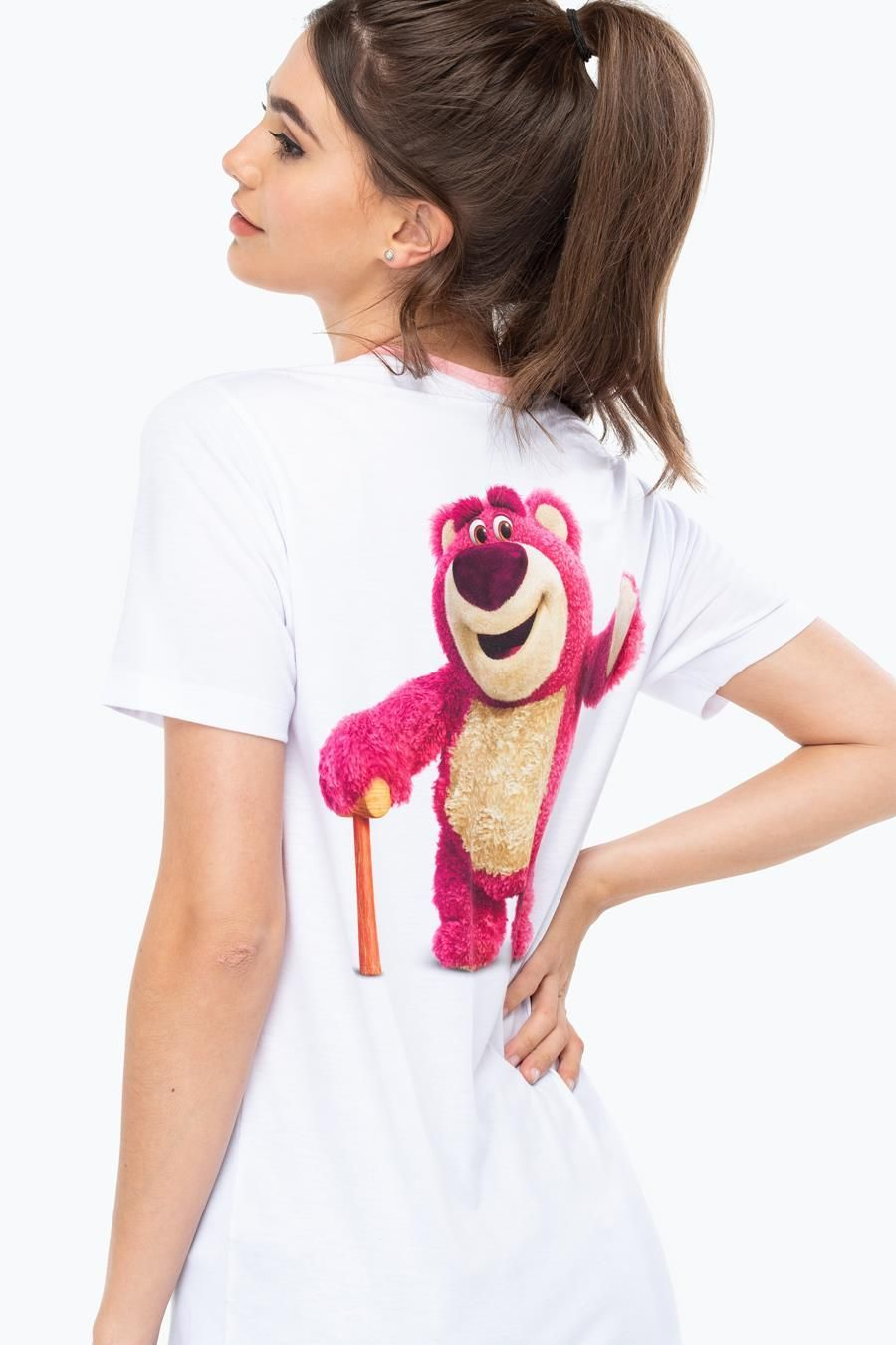 Hype Toy Story White Lotso Ringer Womens T-Shirt