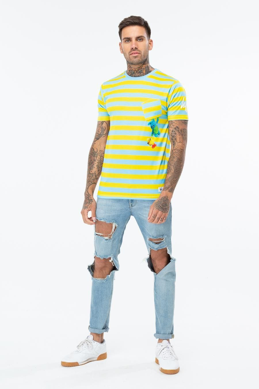 Hype Toy Story Multi Ducky Bunny Pocket Mens T-Shirt