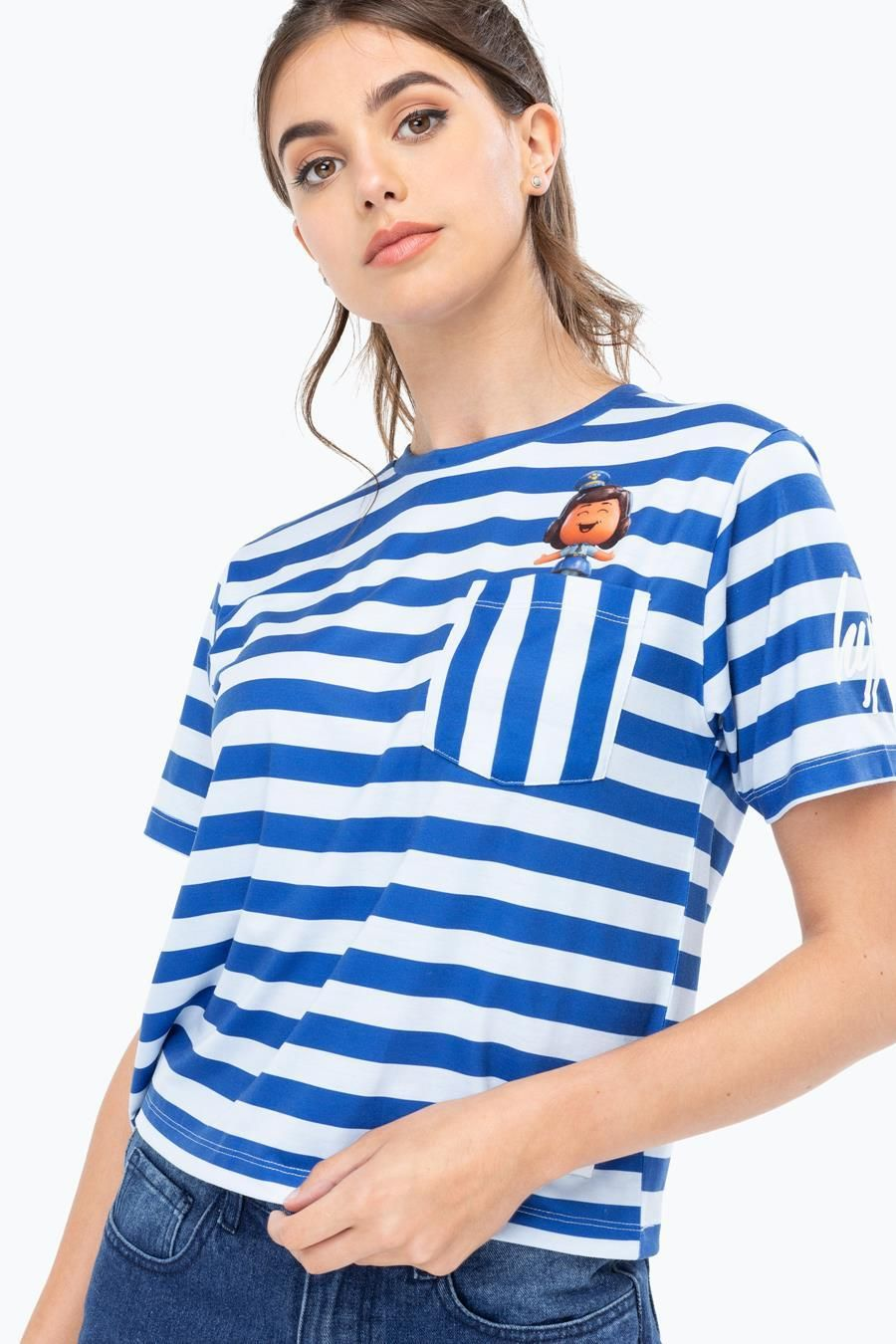 Hype Toy Story Blue Giggles Womens Crop T-Shirt