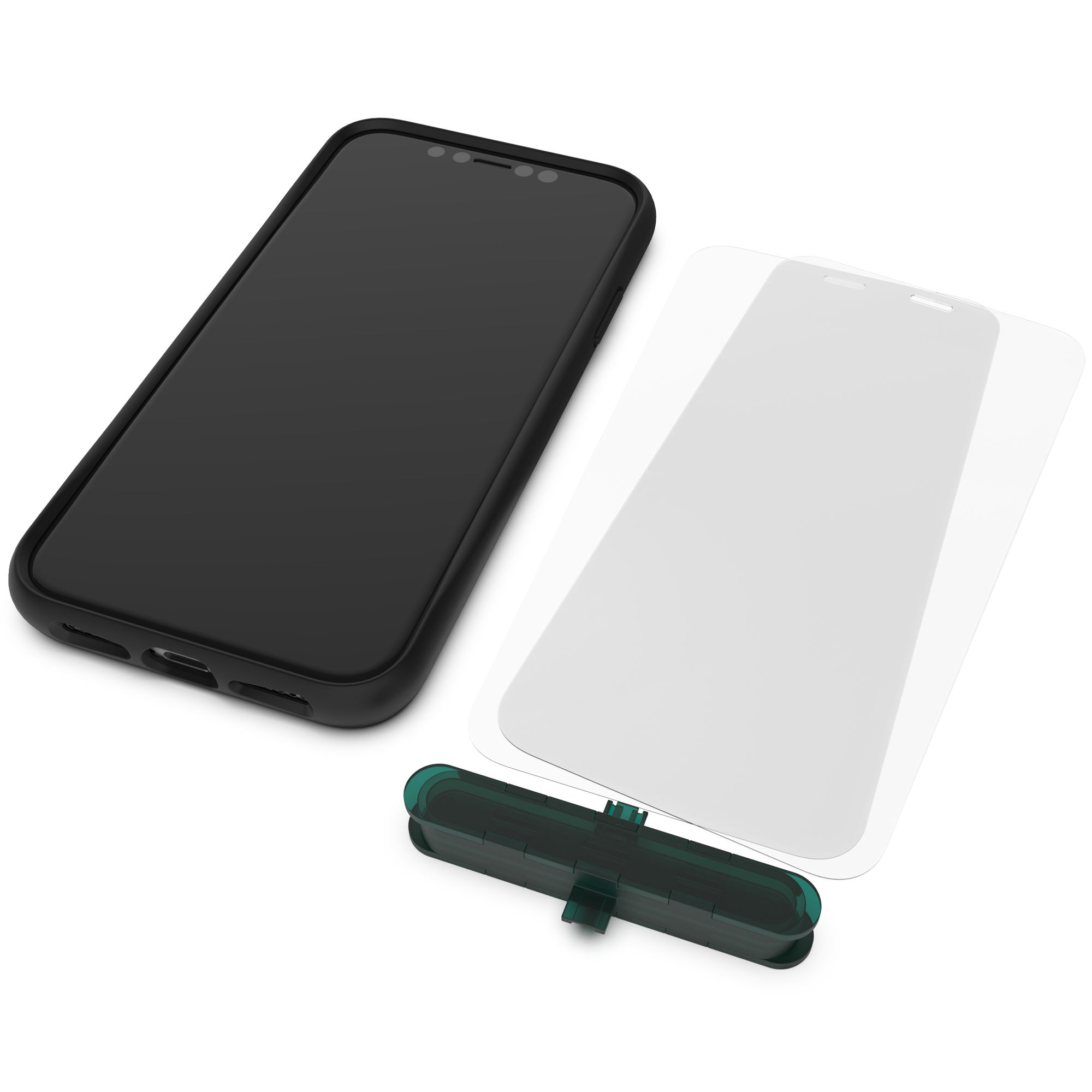 Mous - Ultra Resistant Hybrid Glass Protector for iPhone 12 Pro Max - Anti-Scratch & Shatterproof - Pack of 2