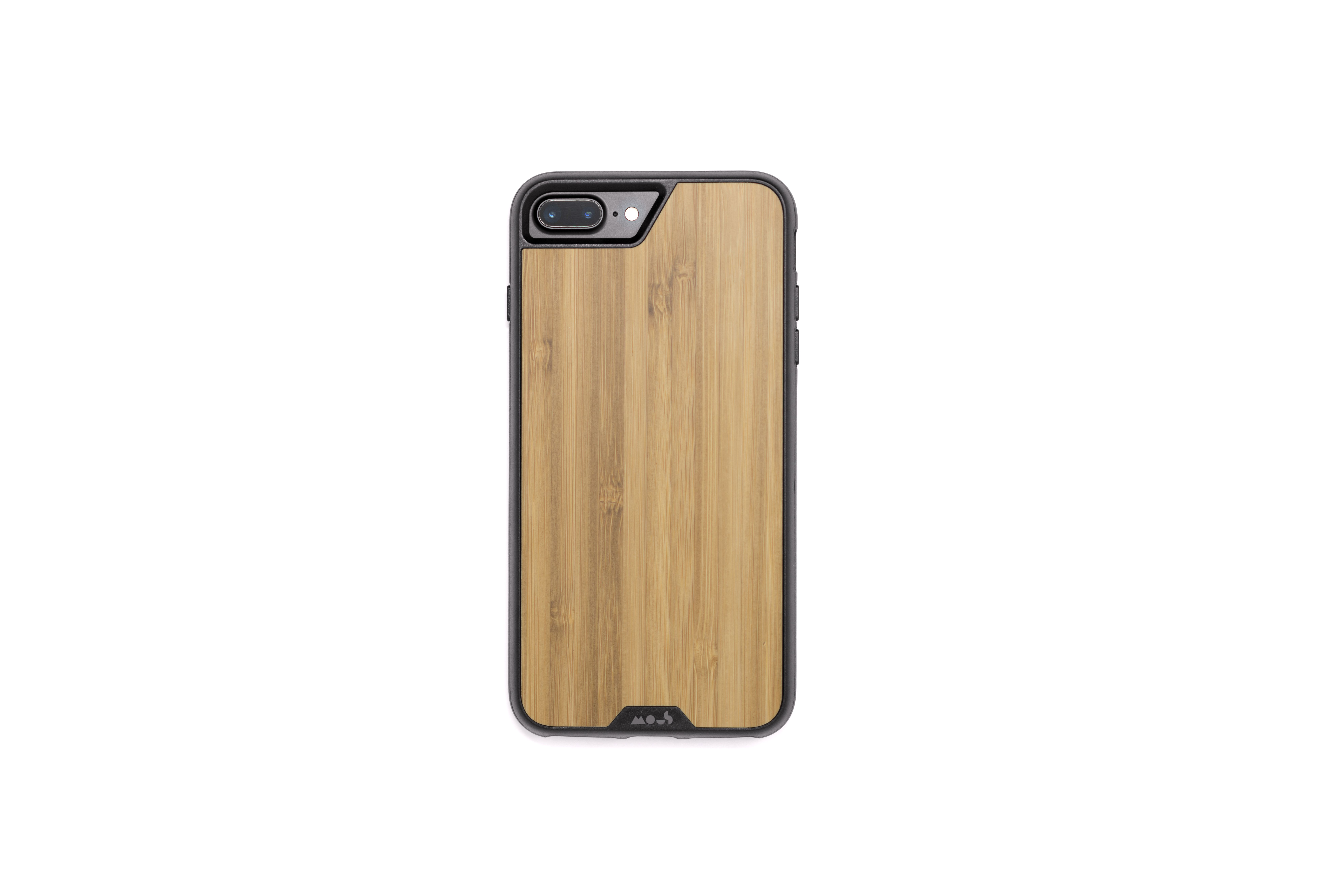 Mous - Protective Case for iPhone 8+/7+/6S+/6+ Plus - Limitless 2.0 - Bamboo - Screen Protector Included