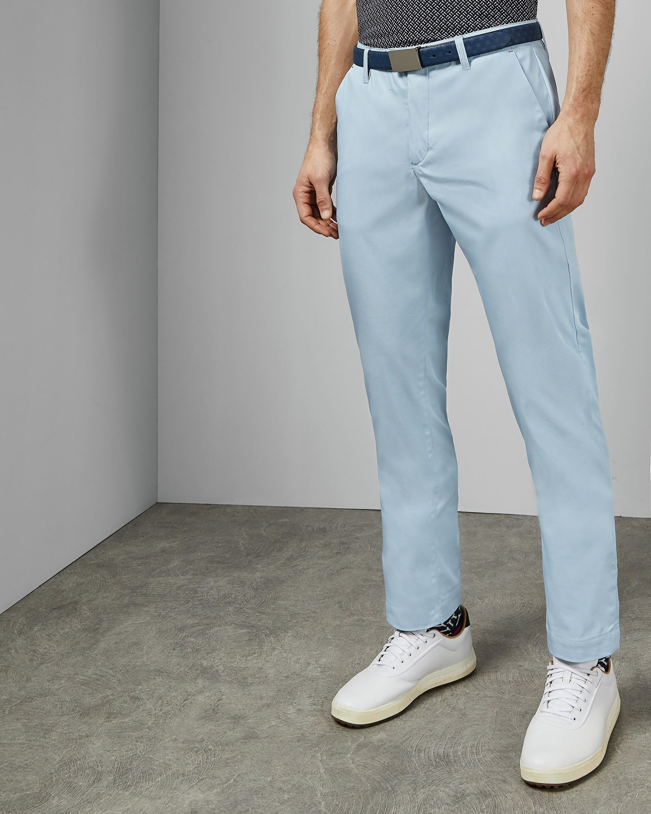 Ted Baker Icecub Classic Fit Golf Trouser, Pale Blue