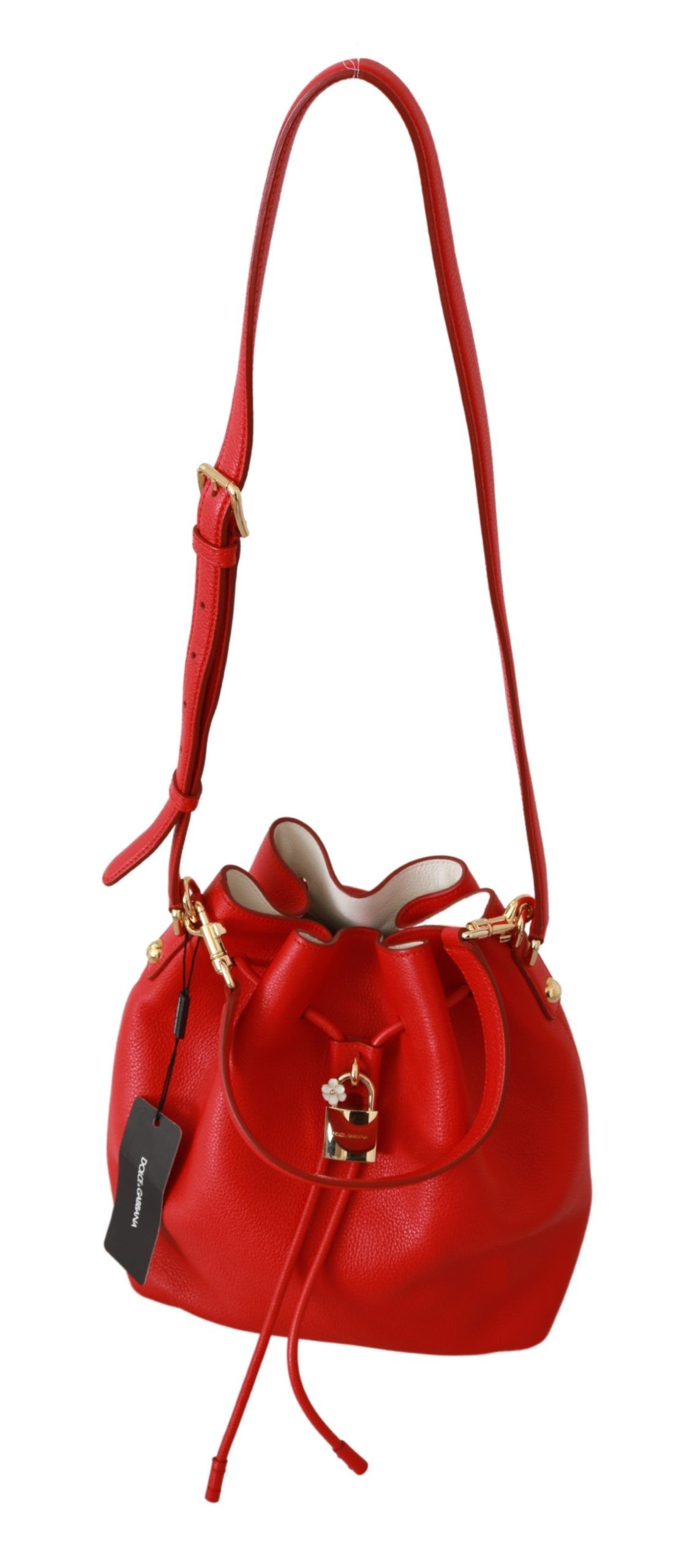 Dolce & Gabbana Pink Leather Zipper Trifold Card Case Holder Wallet