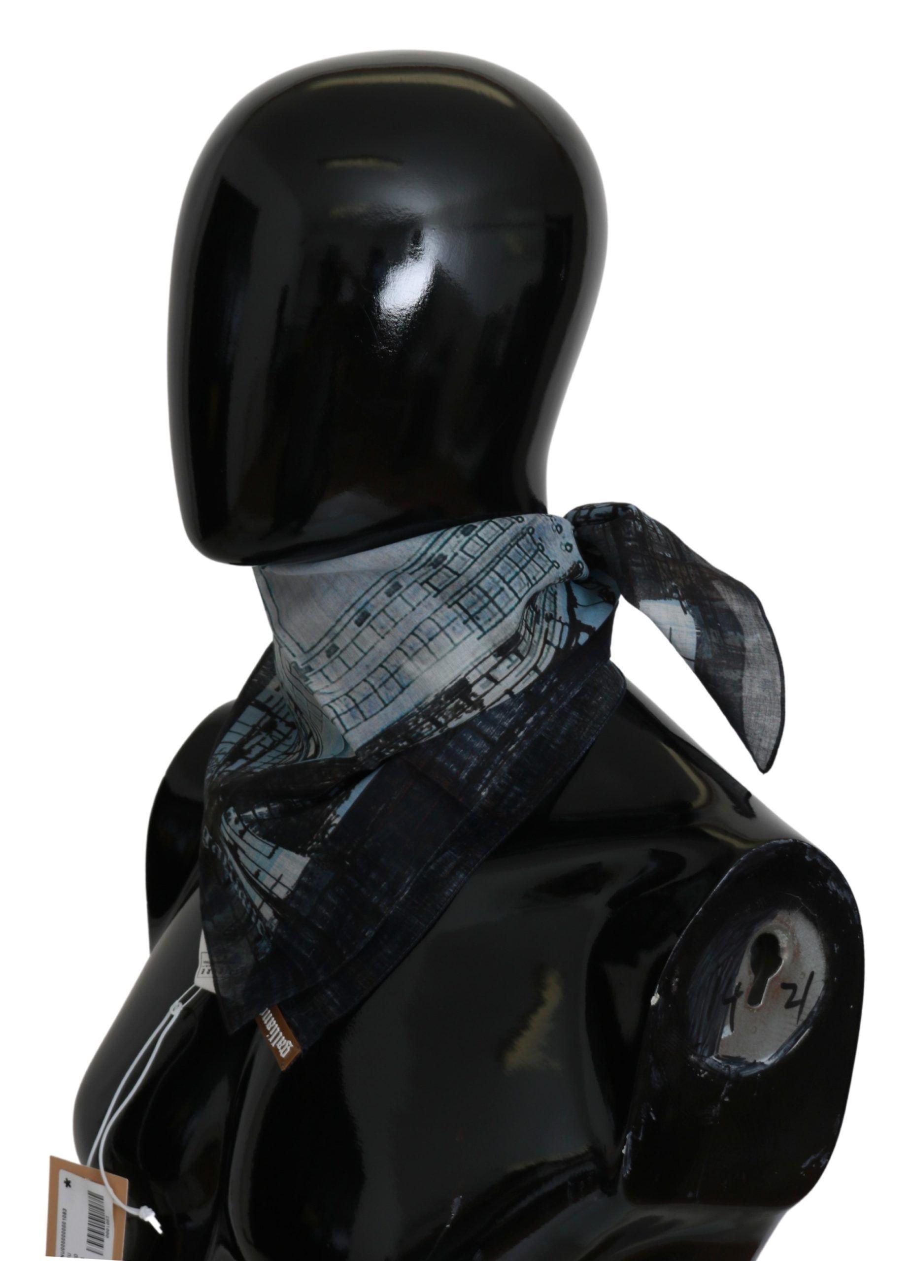 Galliano Multicolor gedruckt Bandana Baumwolle Quadrat Schal